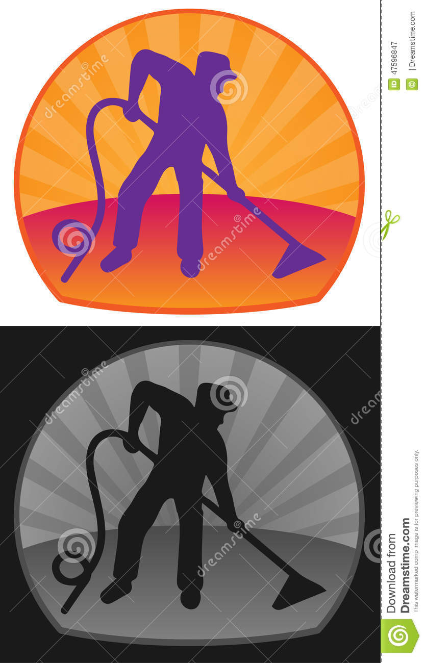 cleaning man stock vector image 47596847