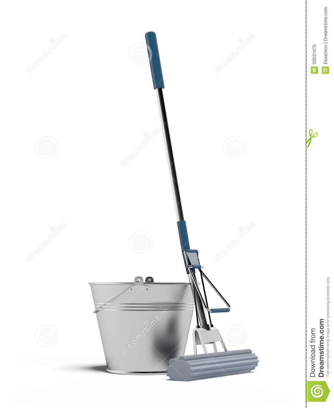 Cleaning Mop And Bucket Royalty Free Stock Photo  Image: 33031975