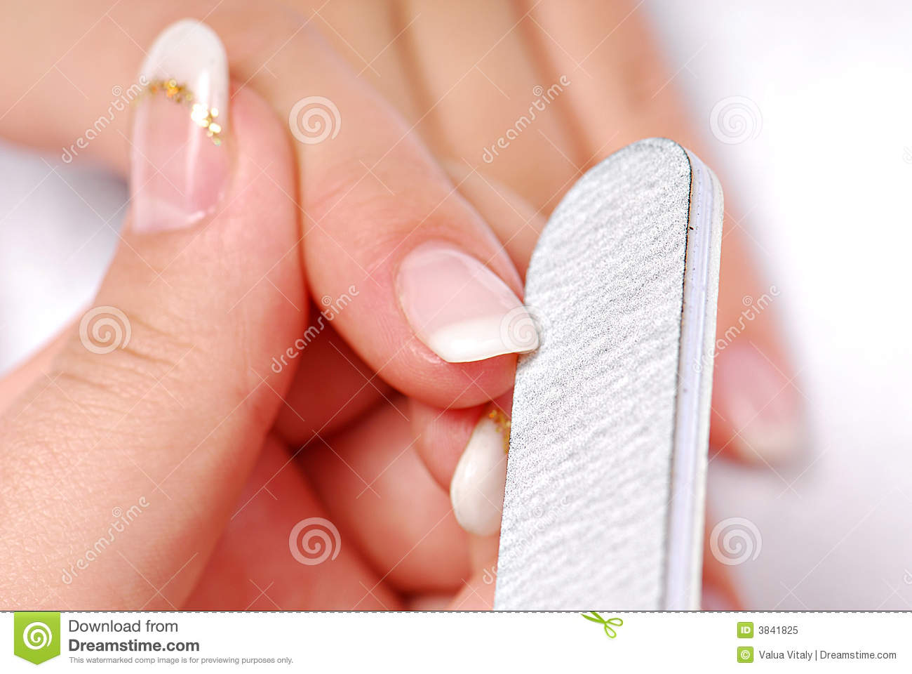 cleaning nails royalty free stock photo