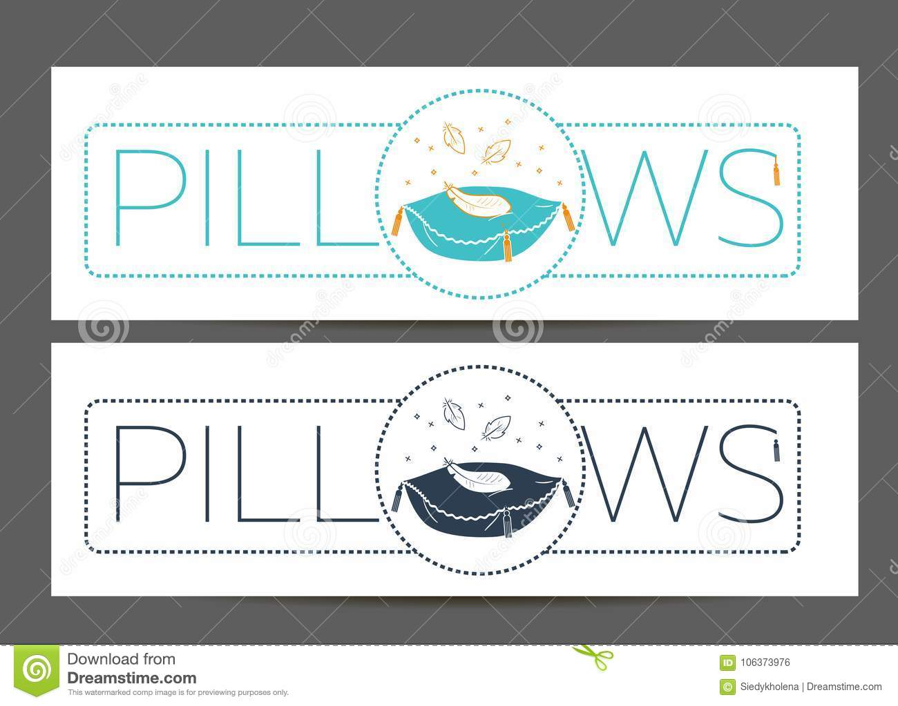 cleaning pillows linear style stock illustration illustration of