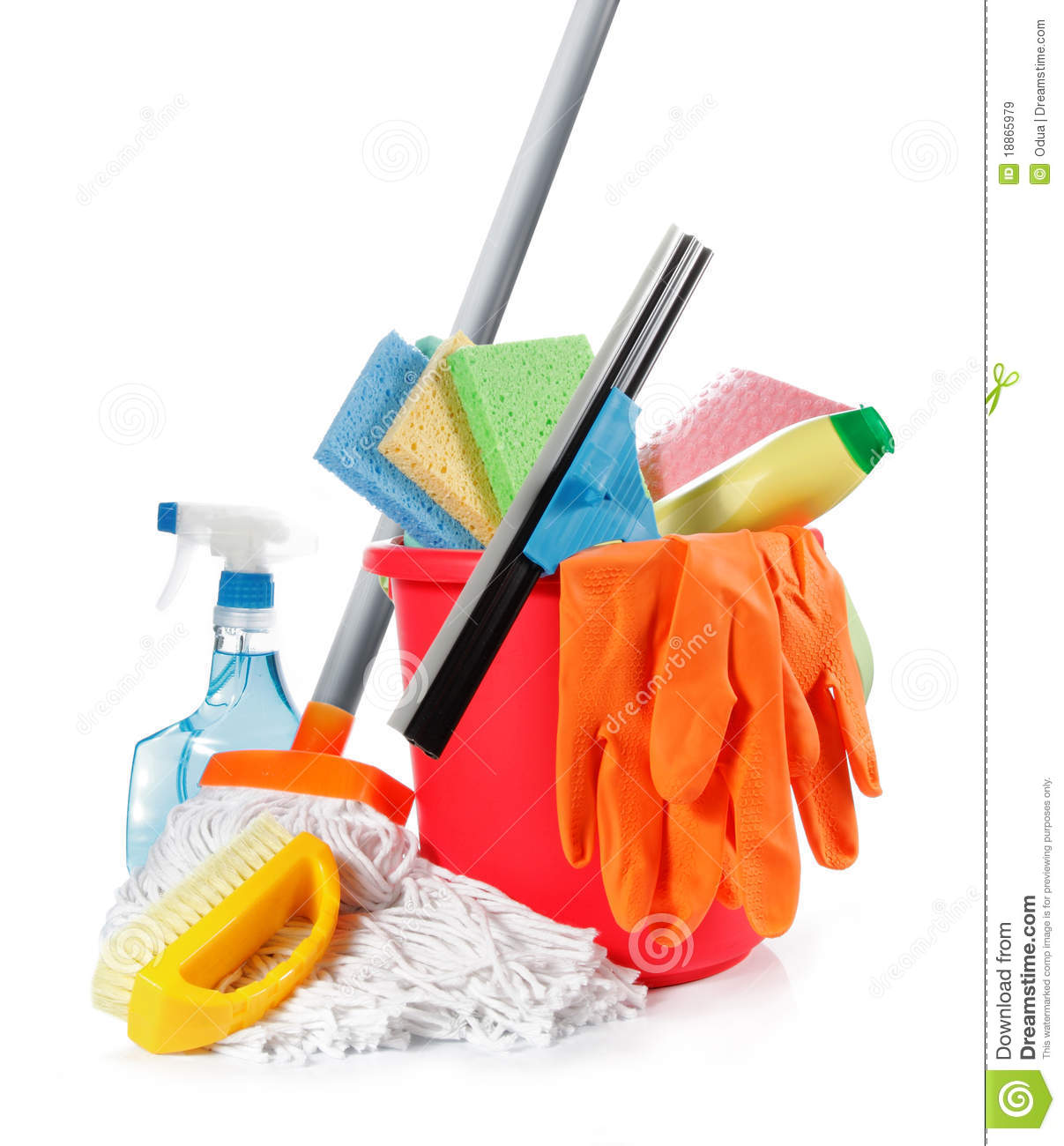 Cleaning products stock image image of concept cloth for Productos de limpieza