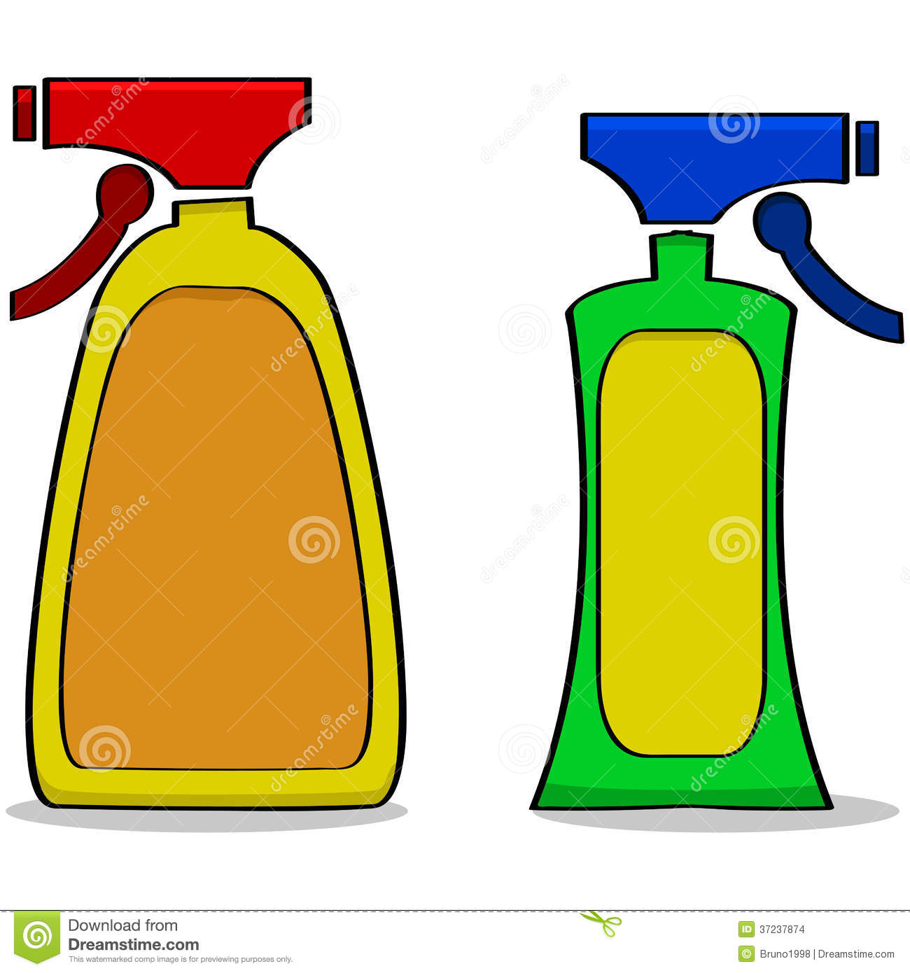 Cleaning Products Stock Illustration Image Of Squeeze