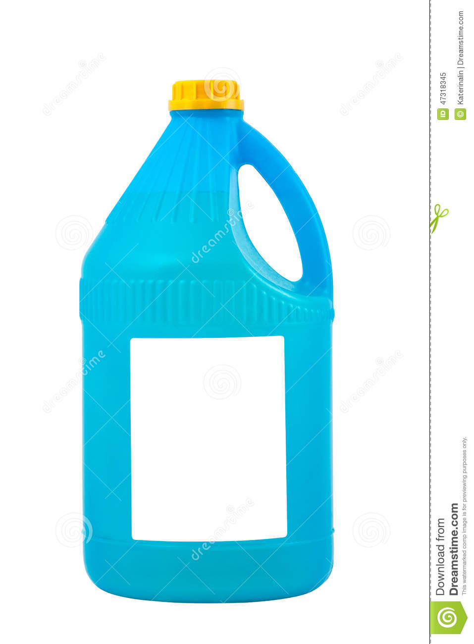 Cleaning Products Detergent Plastic Bottle Isolated Stock