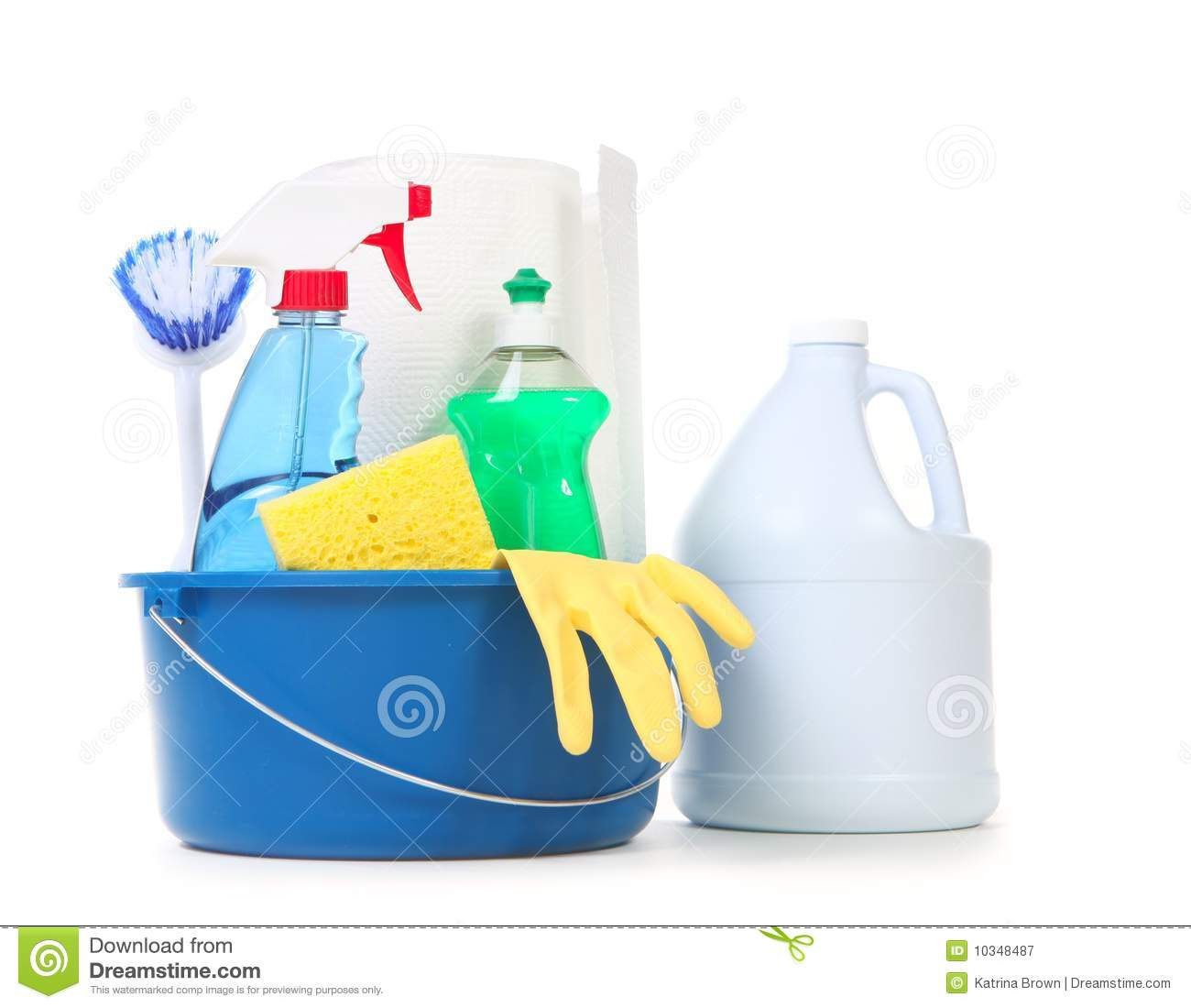 Cleaning Products For Daily Use In The Home Royalty Free