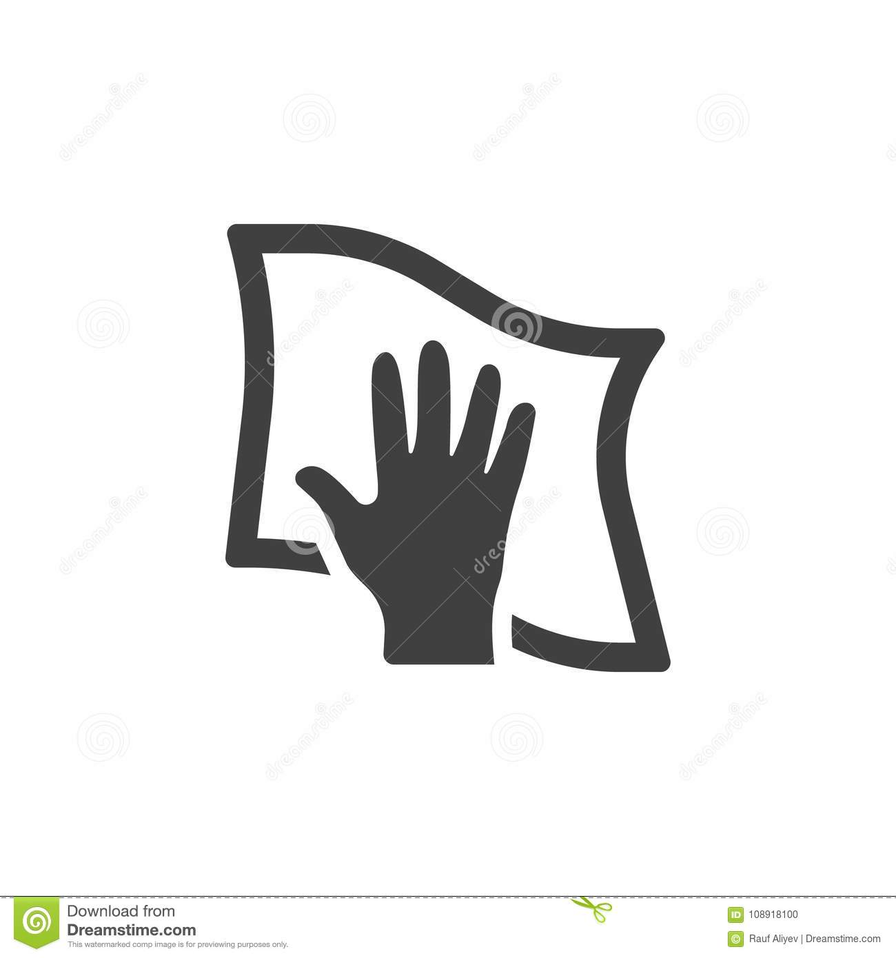 cleaning with rag icon stock illustration  illustration of