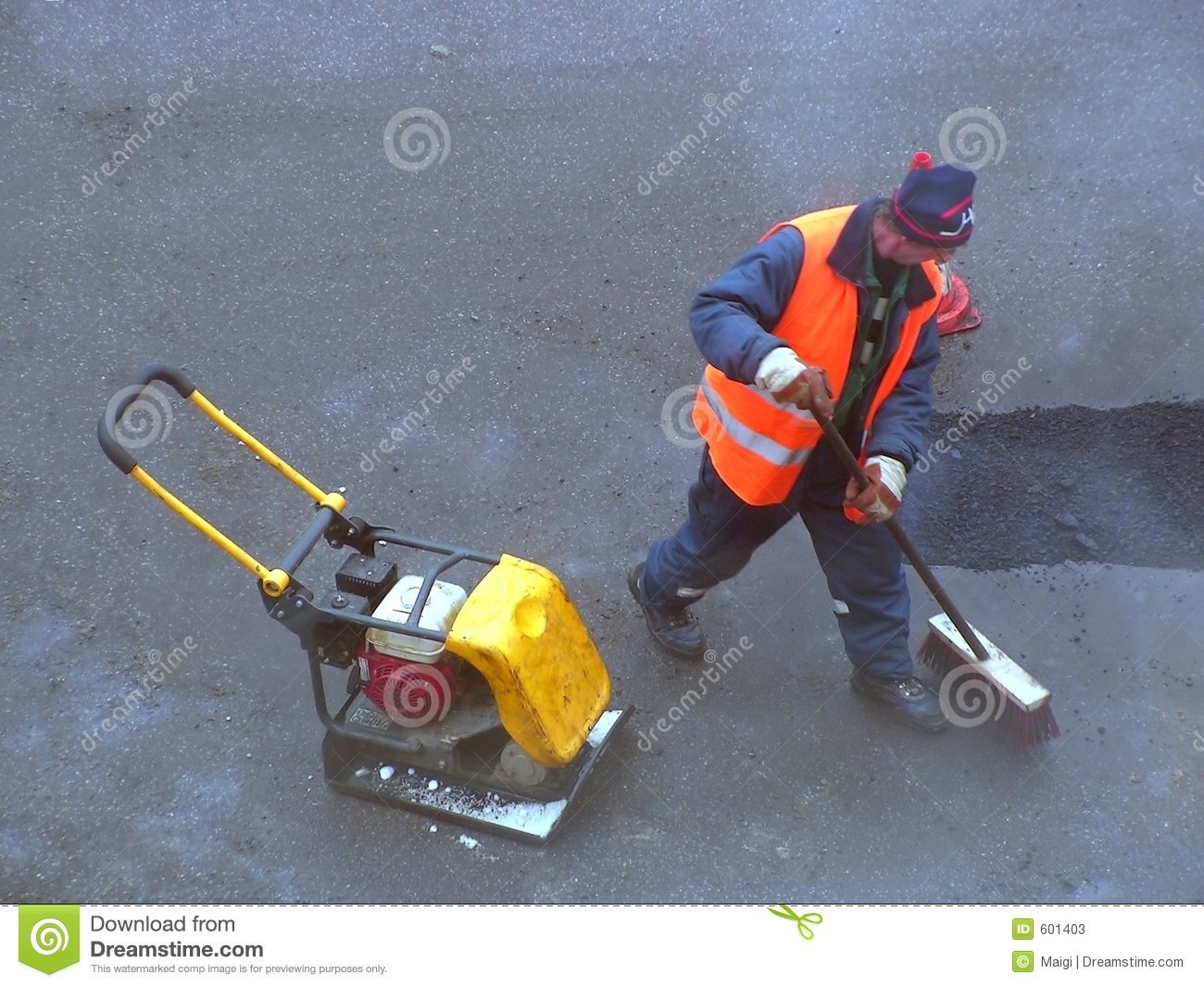 Cleaning the road