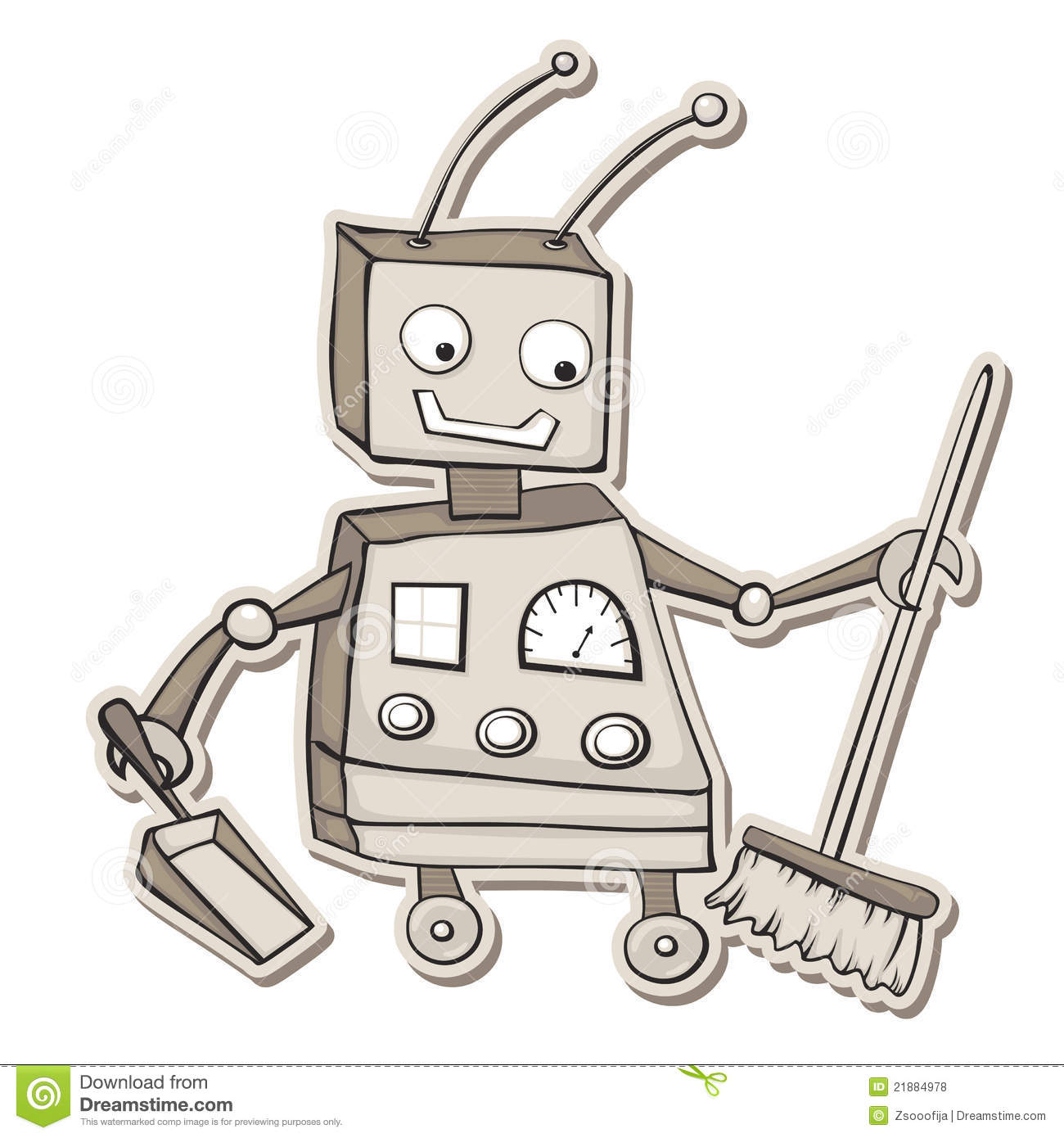 Cleaning Robot Royalty Free Stock Photos Image 21884978