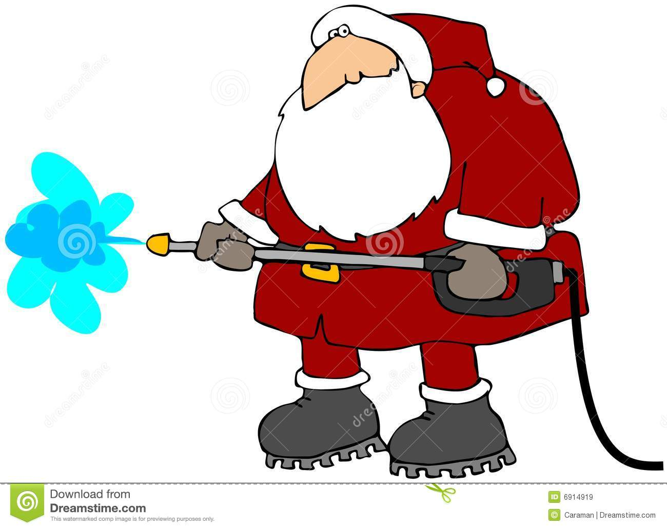 Cleaning Santa Royalty Free Stock Images Image 6914919