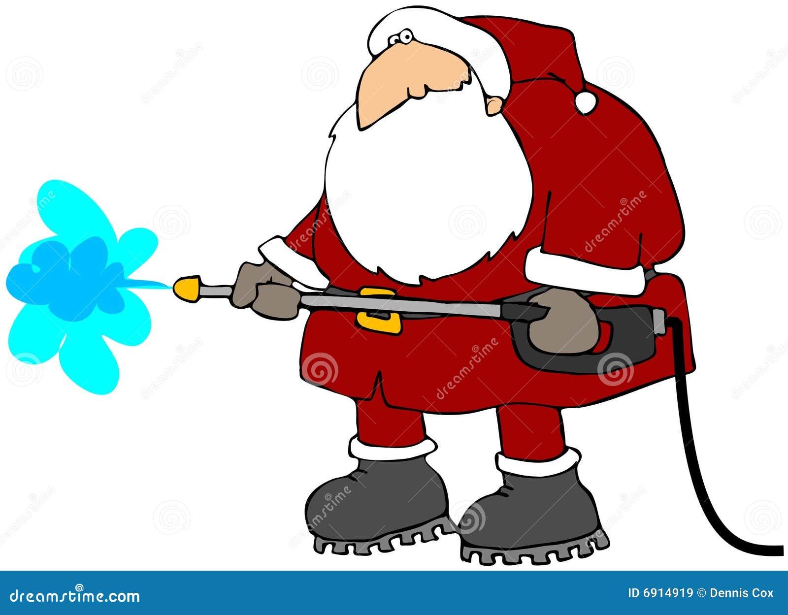 Cleaning Santa Stock Illustration Illustration Of Cartoon