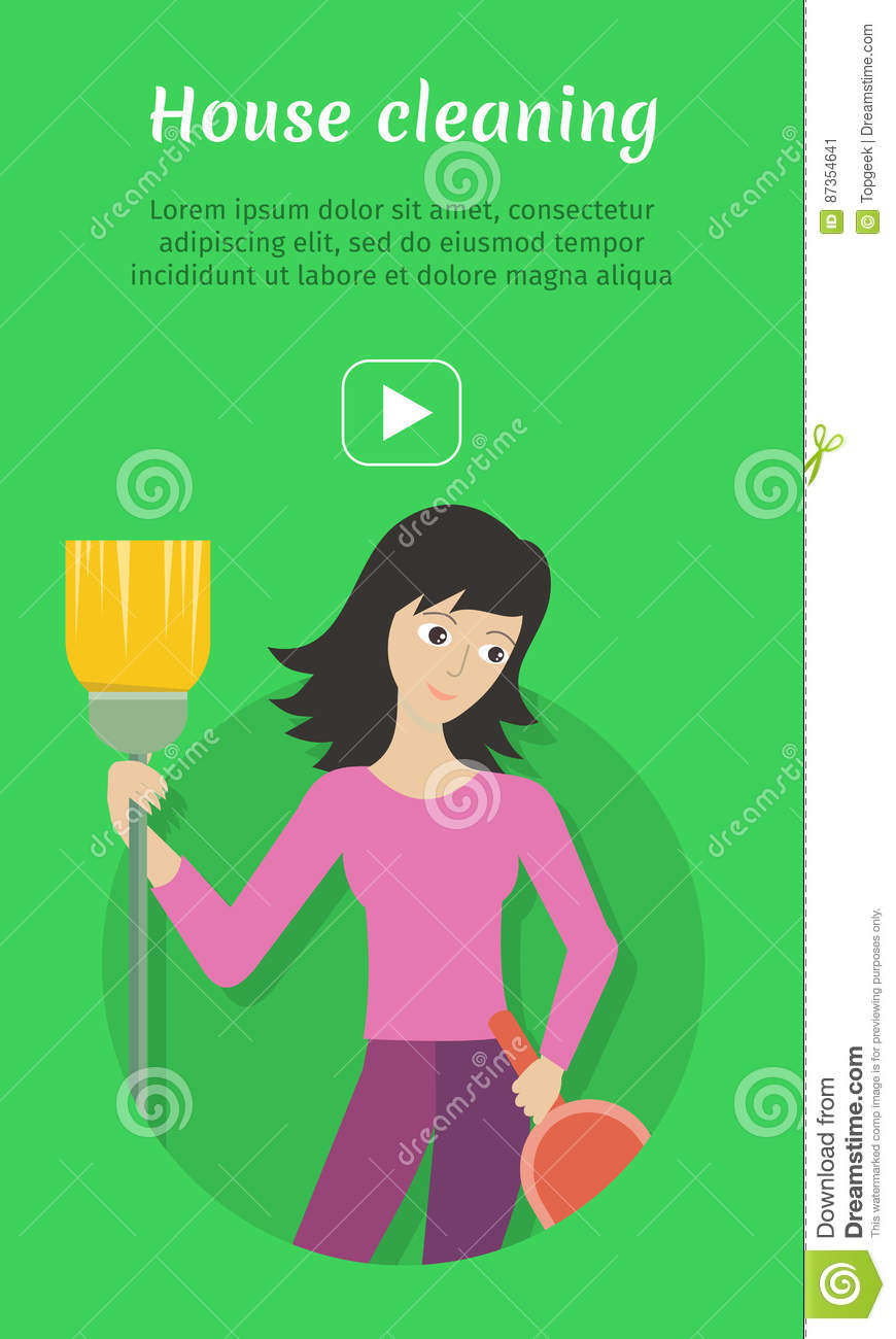 cleaning service ad card banner poster fier stock vector cleaning service ad card banner poster fier