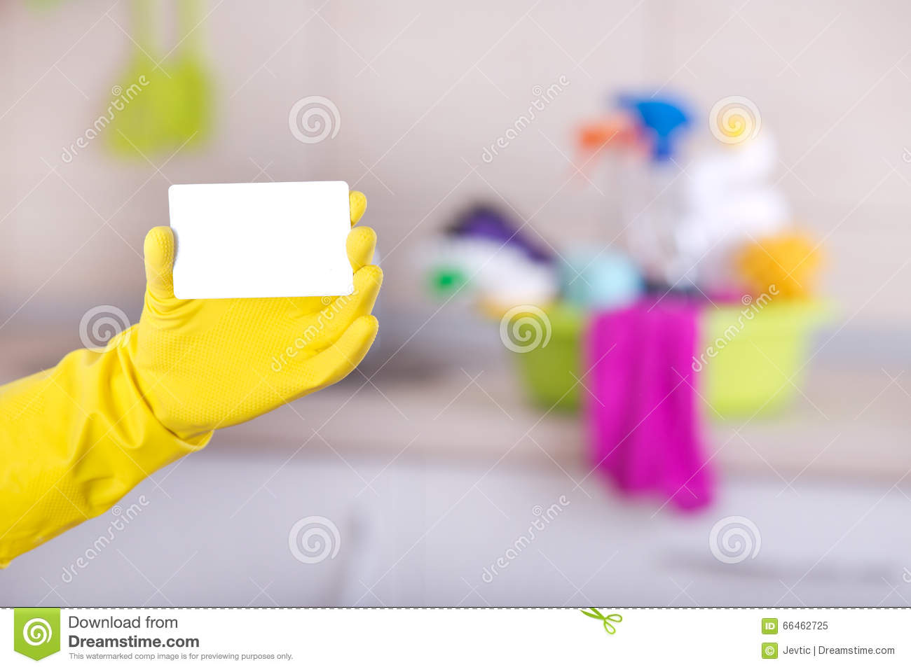 Cleaning Service Business Card Stock Image - Image of color ...