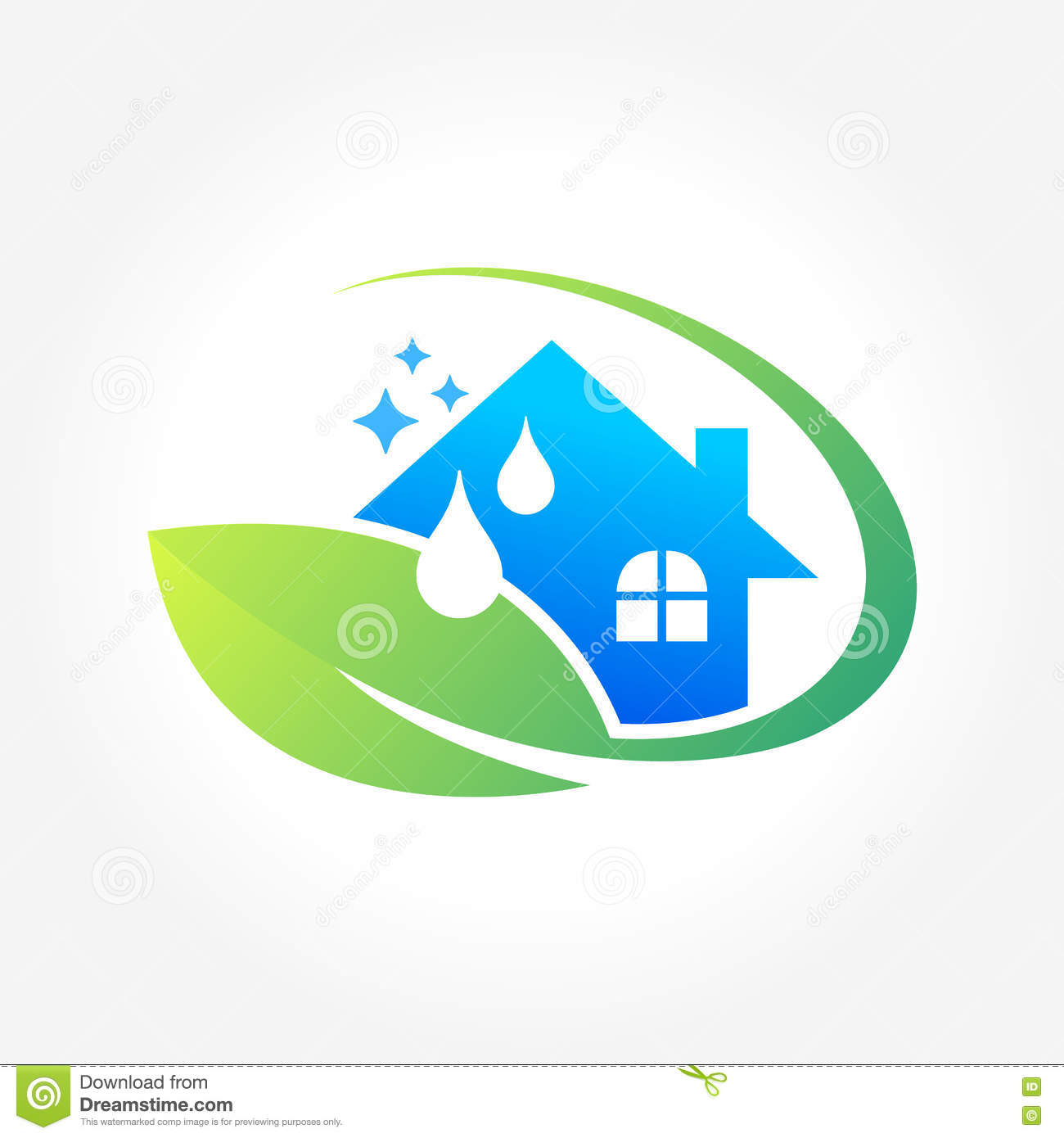 Cleaning service business logo design eco friendly for Household design company