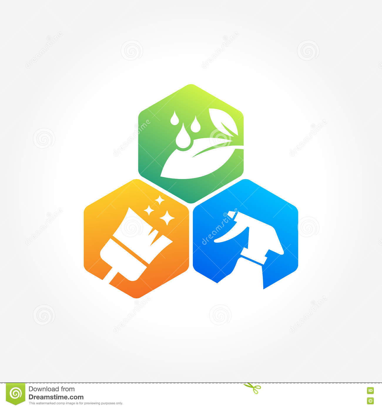 House cleaning services logo for Household design company