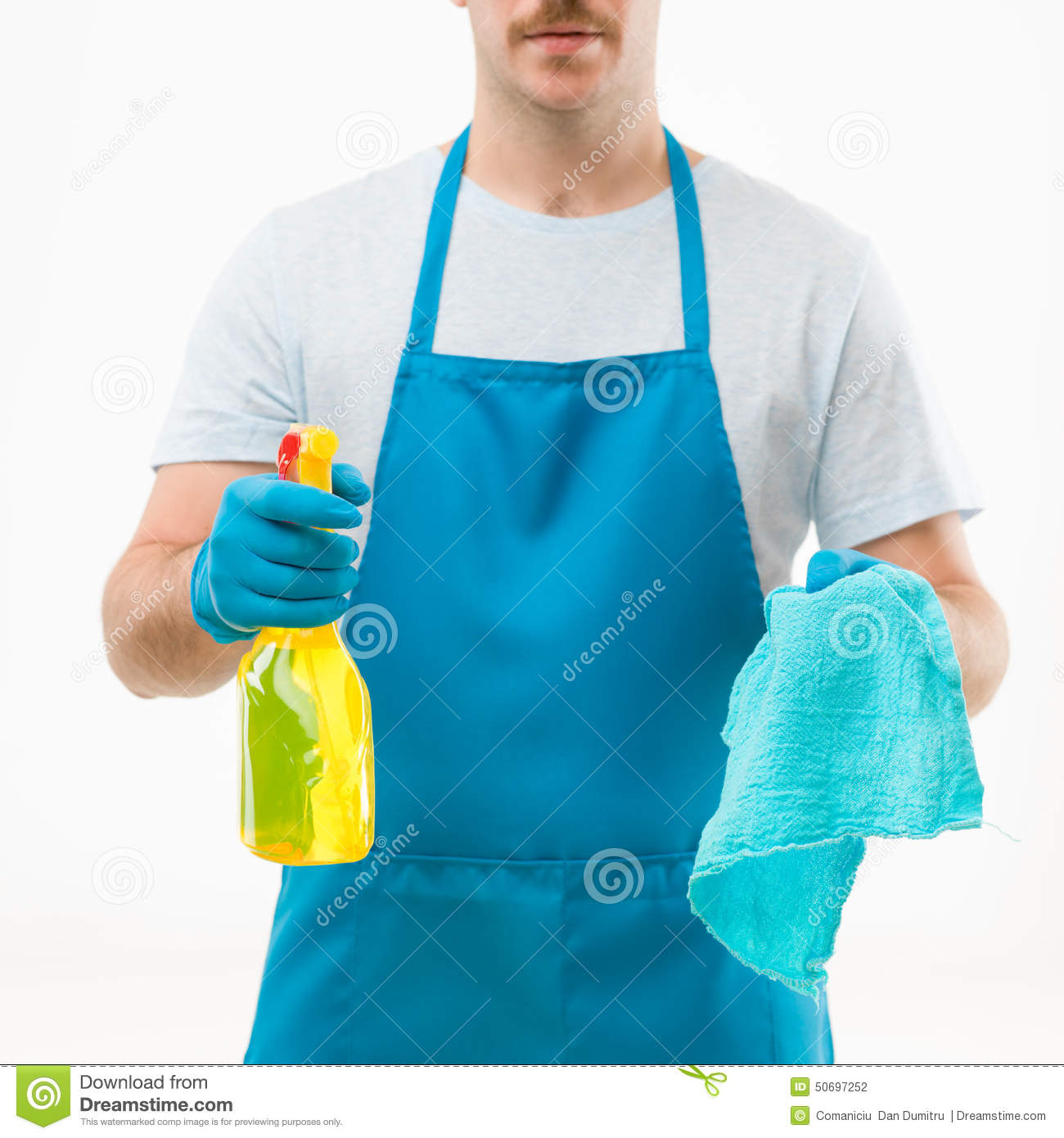White gloves apron cleaning services - Cleaning Service