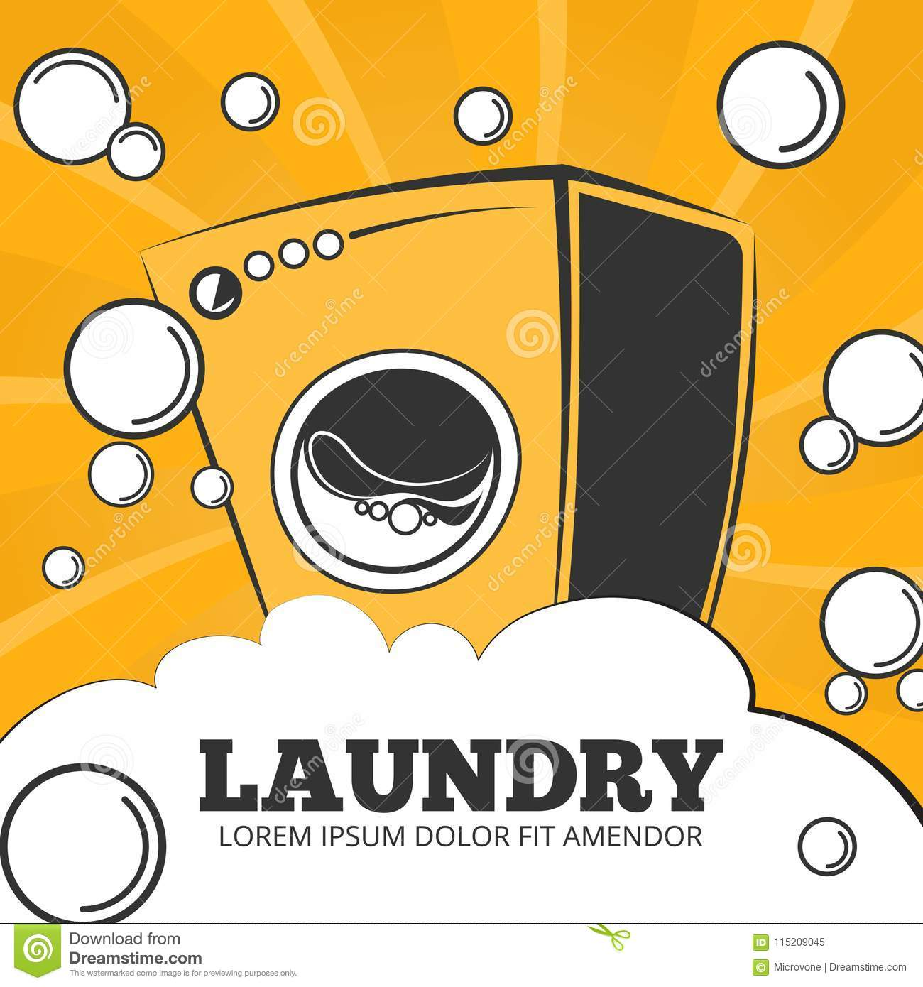 Cleaning Service And Laundry Vector Concept Background ...