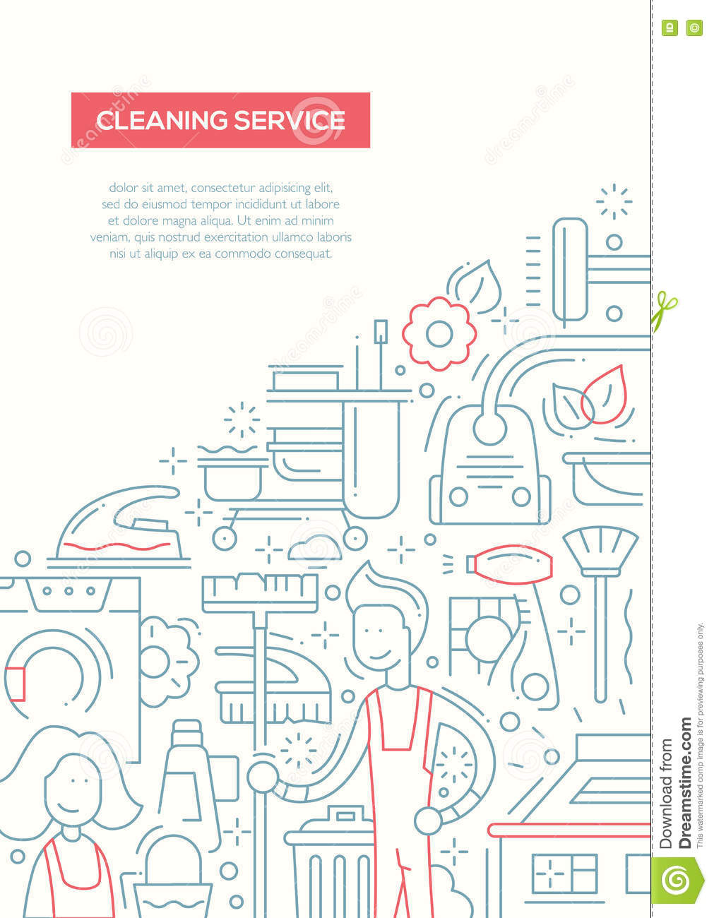 cleaning service line design brochure poster template a stock cleaning service line design brochure poster template a4