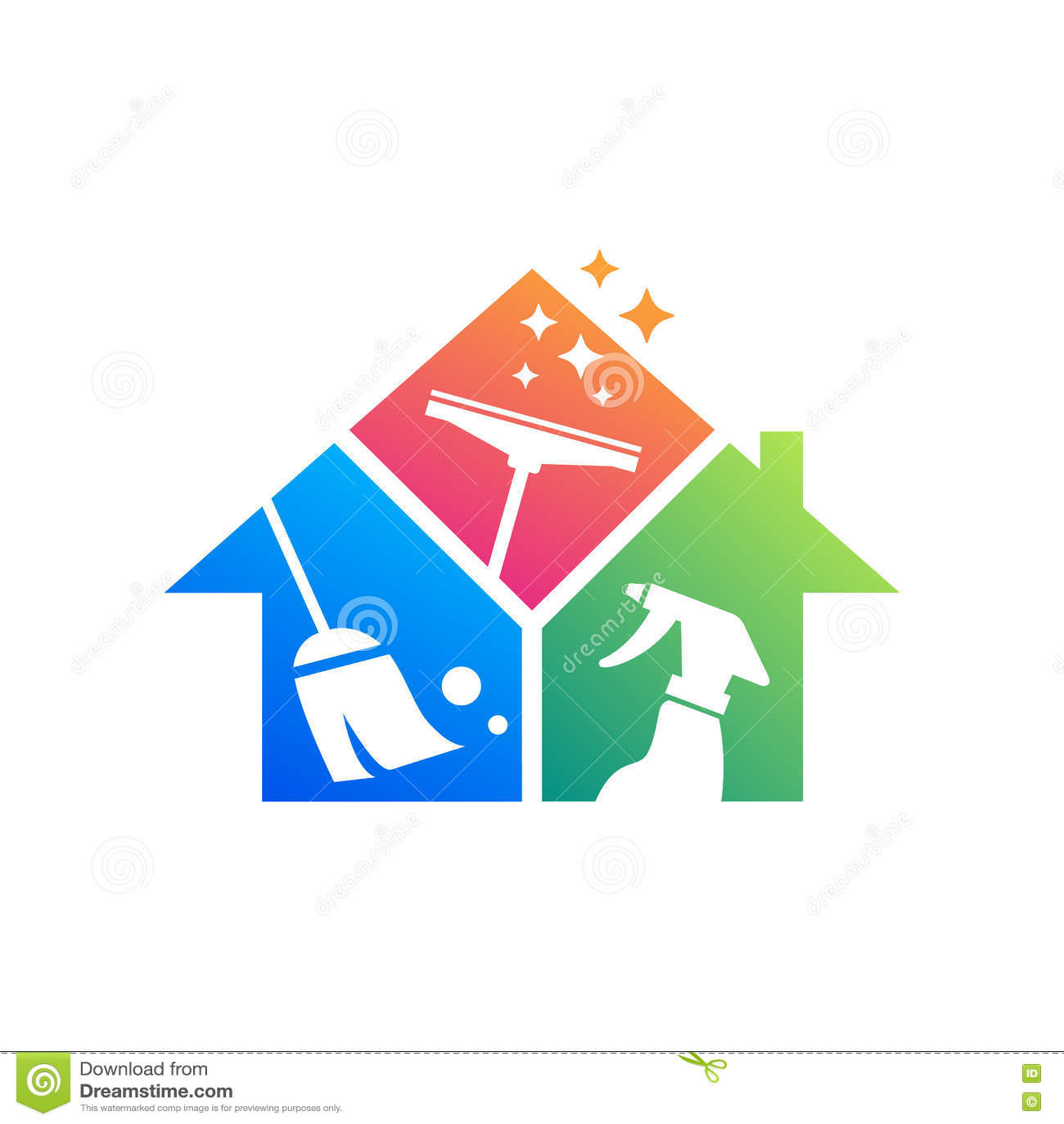 Building Cleaning Service Logo : Cleaning service logo design idea creative eco symbol