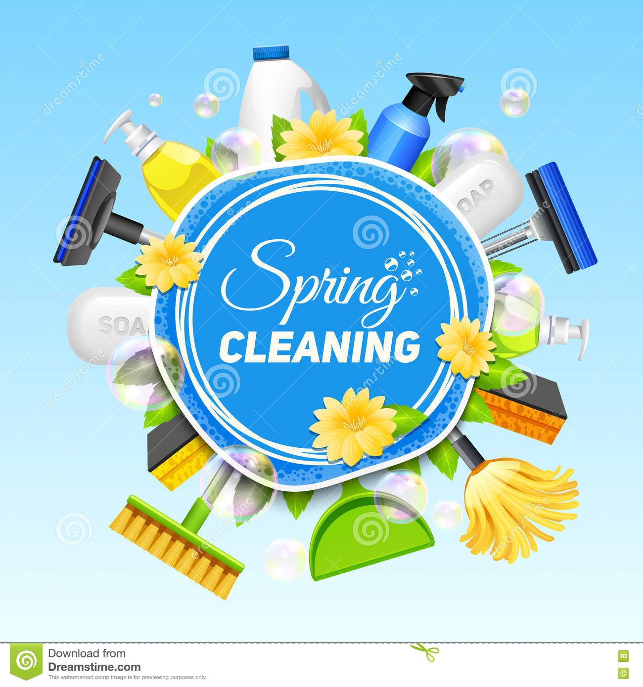 Cleaning Service Poster Stock Illustration Of