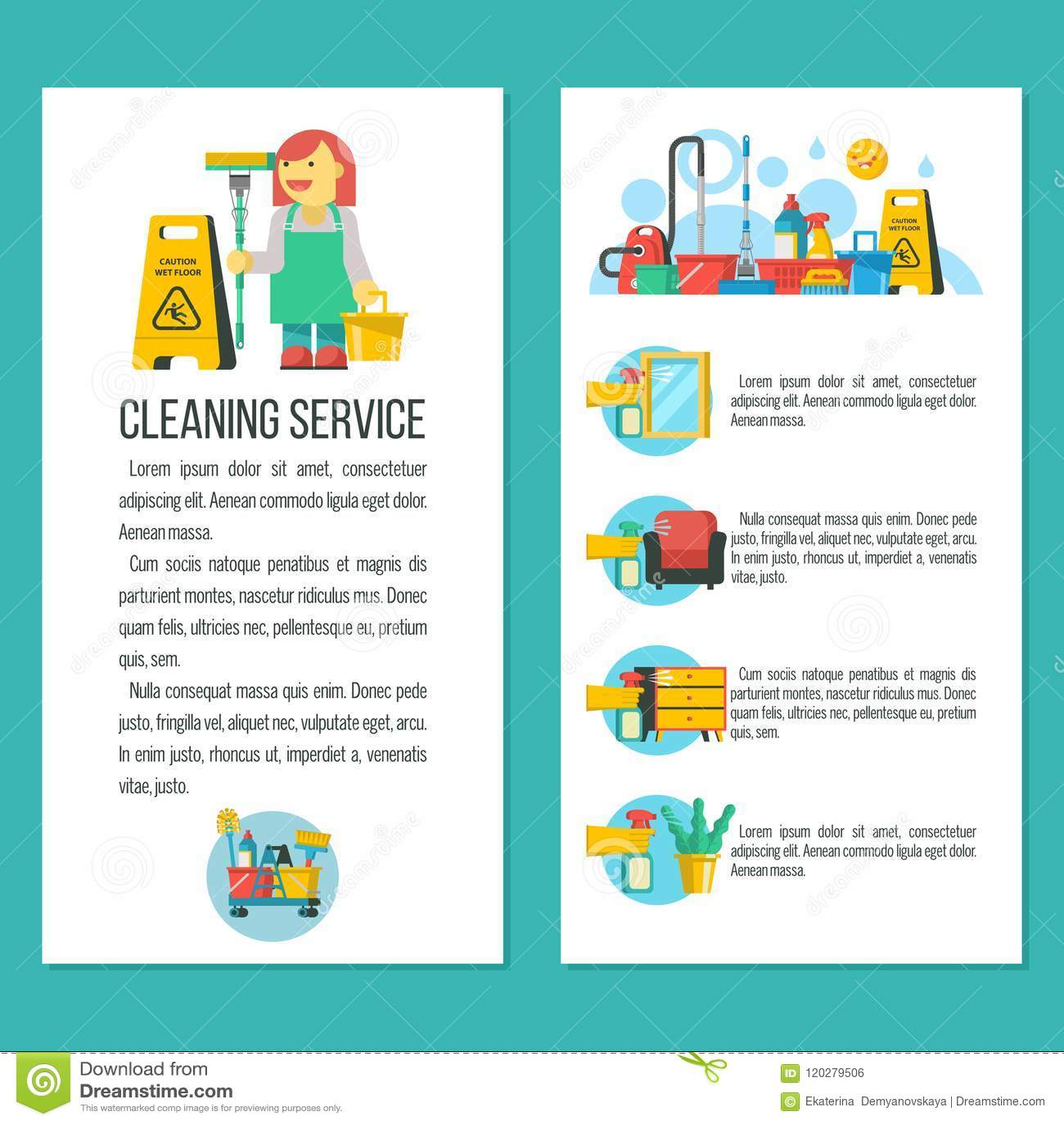 Cleaning Service Vector Illustration Stock Vector Illustration
