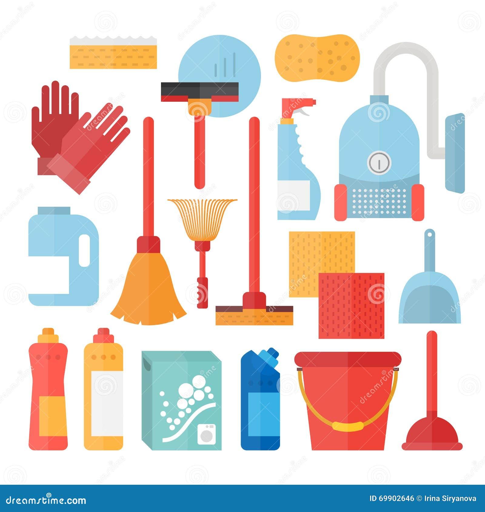 Cleaning service supplies stock illustration. Illustration ...