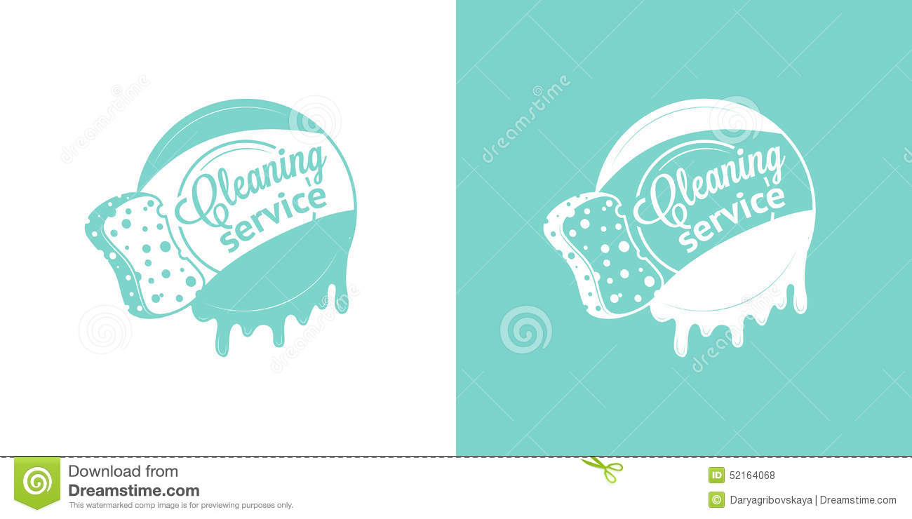 Stock Illustration Cleaning Service Vector Vintage Logos Two Color Image52164068 on Window Symbols For Floor Plans