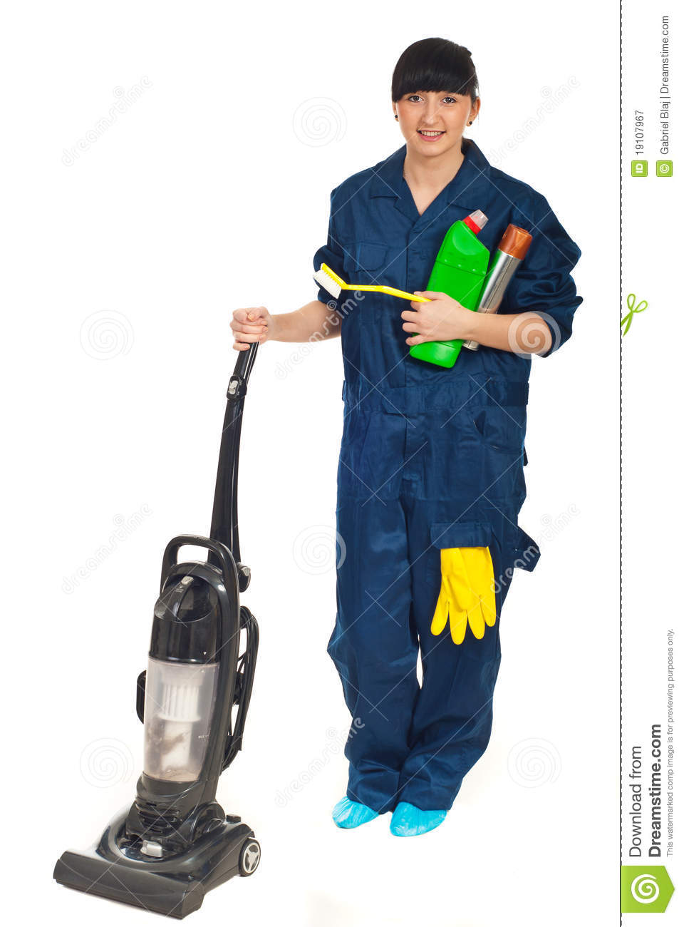 Cleaning Service Cleaning Agents And Tools Illustrations