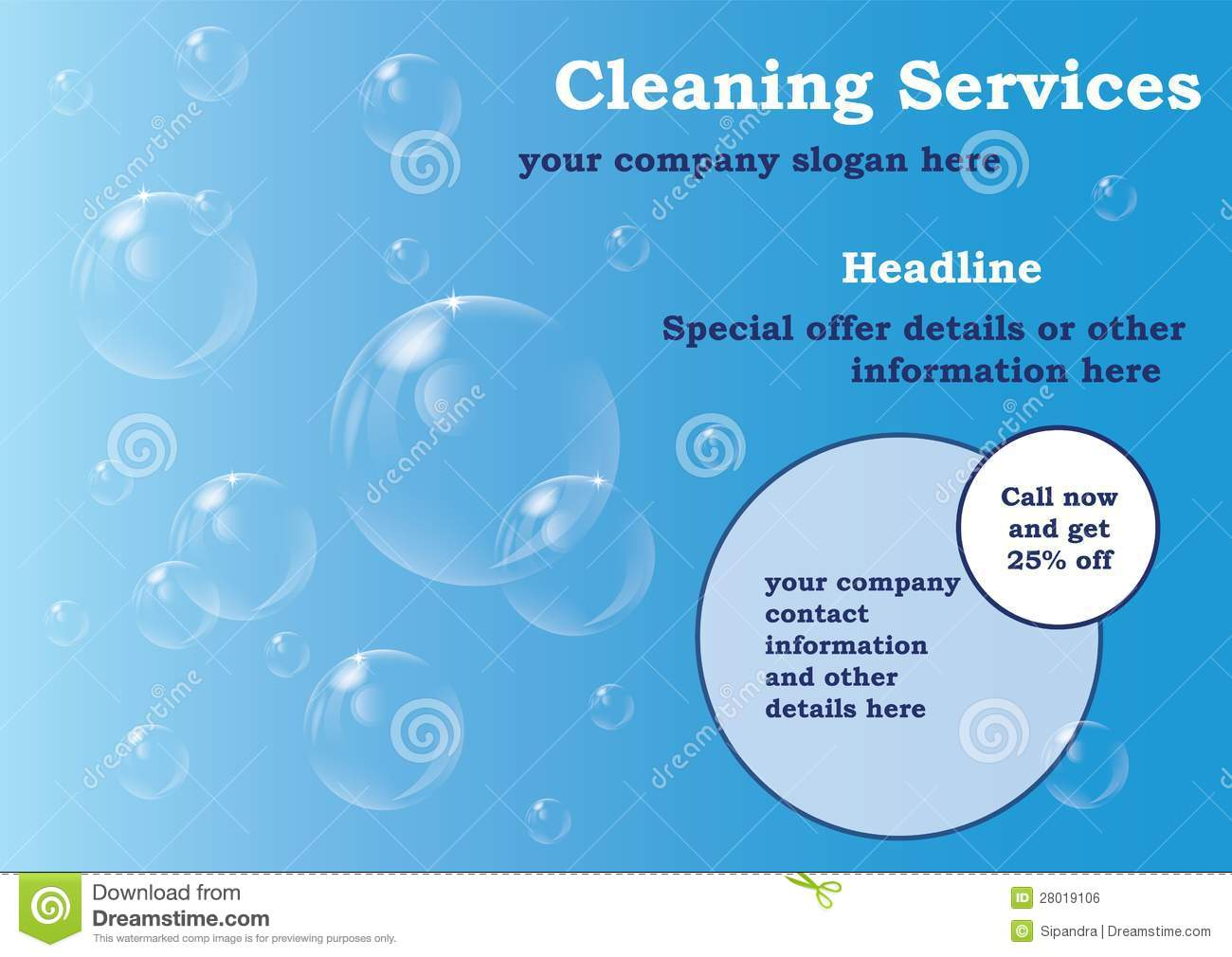 cleaning services flyer template royalty stock image image cleaning services flyer template