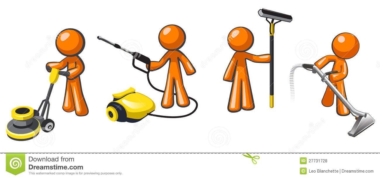 Cleaning Services Team Of Janitorial Professionals Royalty