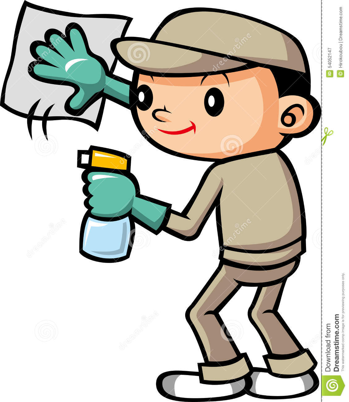 Cleaning Staff Stock Illustration Image 54052147