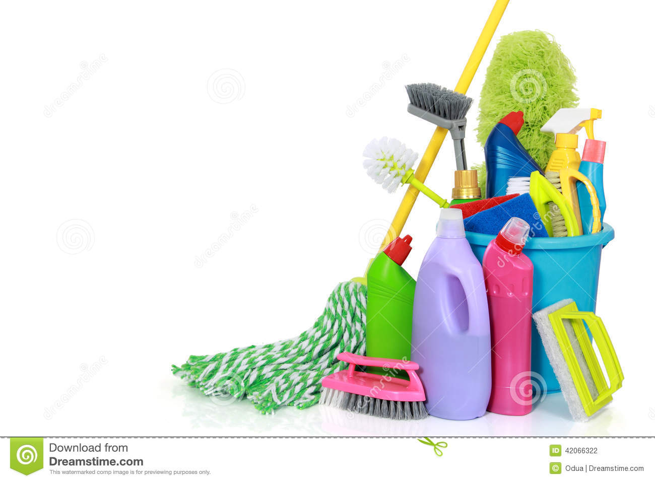 Cleaning Supplies In Bucket Stock Photo Image 42066322