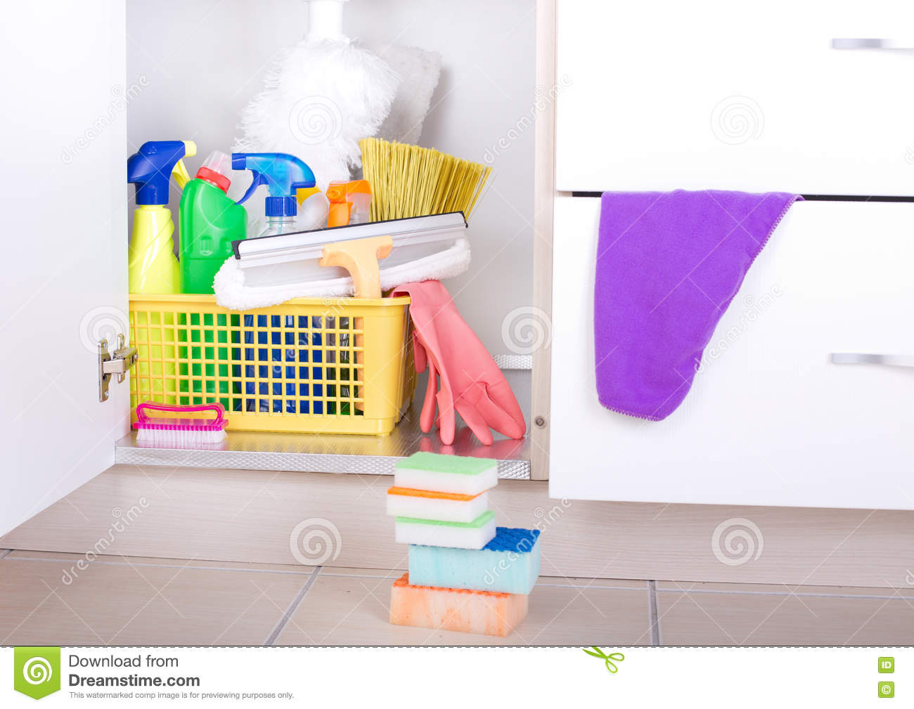 Cleaning Supplies In Pantry Stock Image Image Of Chore Chemical