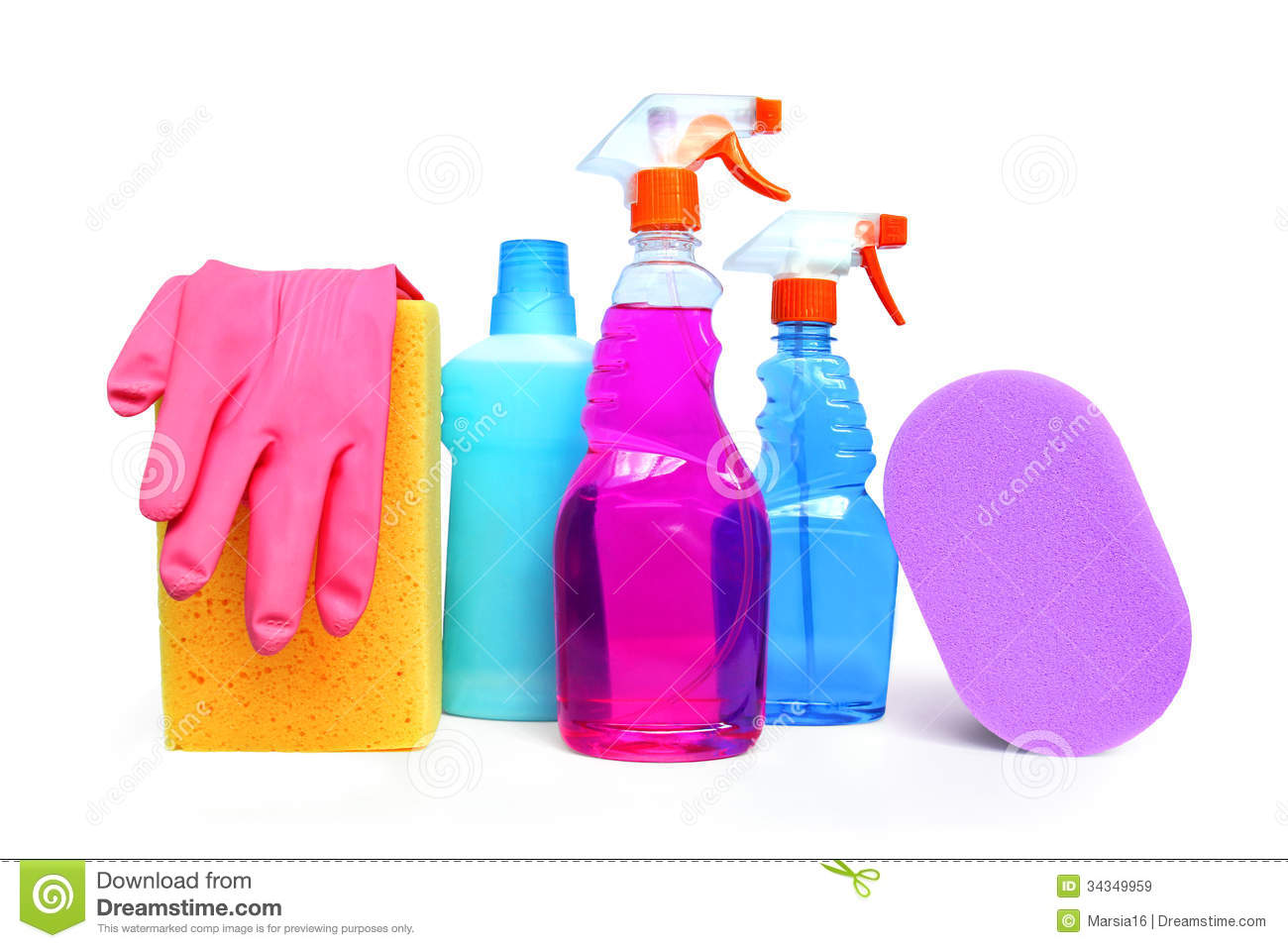 Cleaning supplies stock image image of domestic for Bottle painting materials