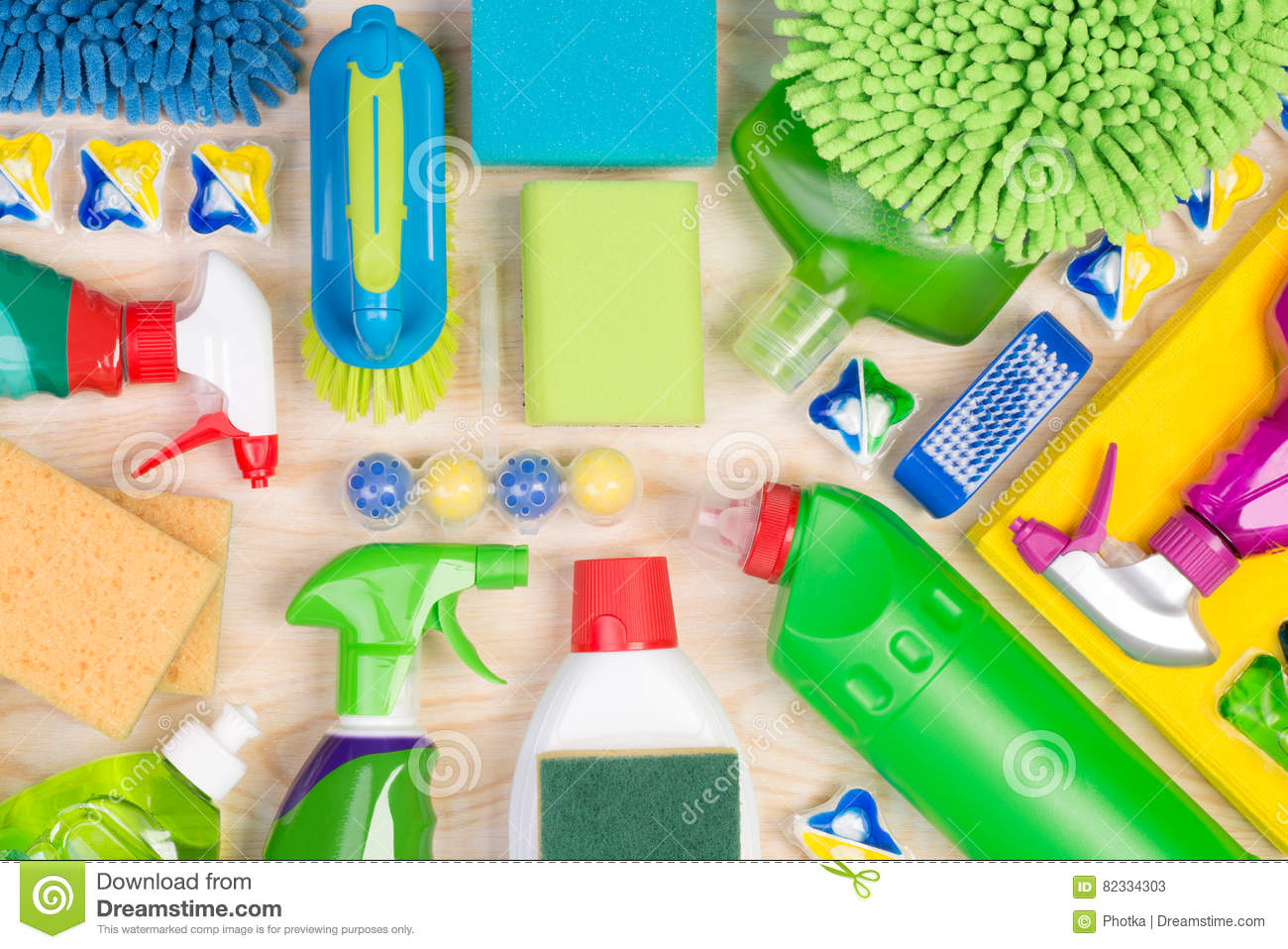 Cleaning Supplies Royalty Free Stock Photo Cartoondealer