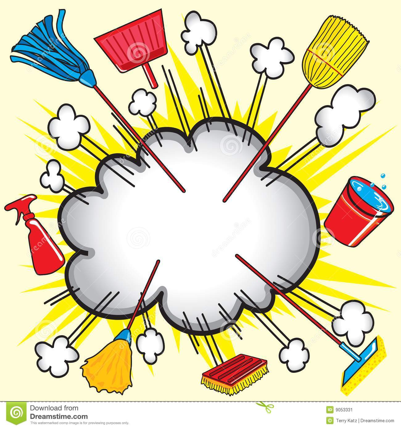 Cleaning Supply Explosion Stock Image Image 9053331