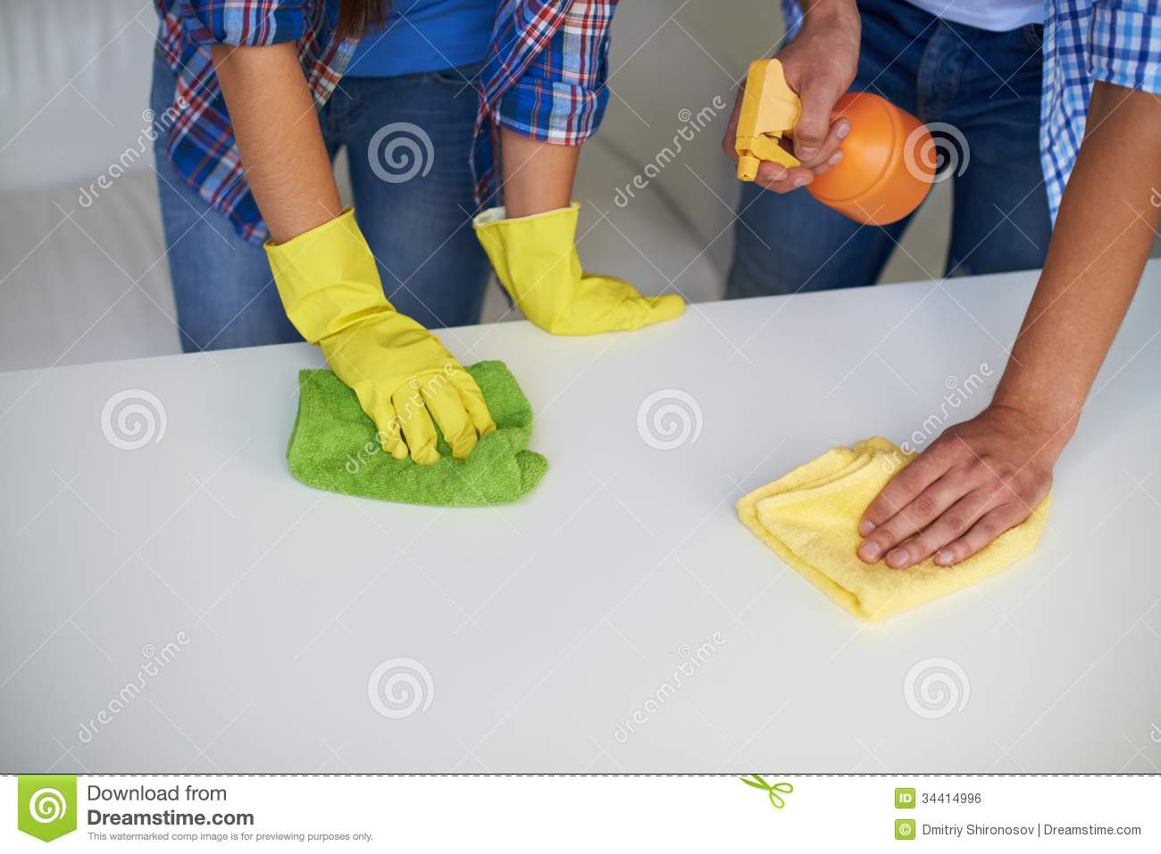 Cleaning Table Stock Photo Image Of Maintenance Female