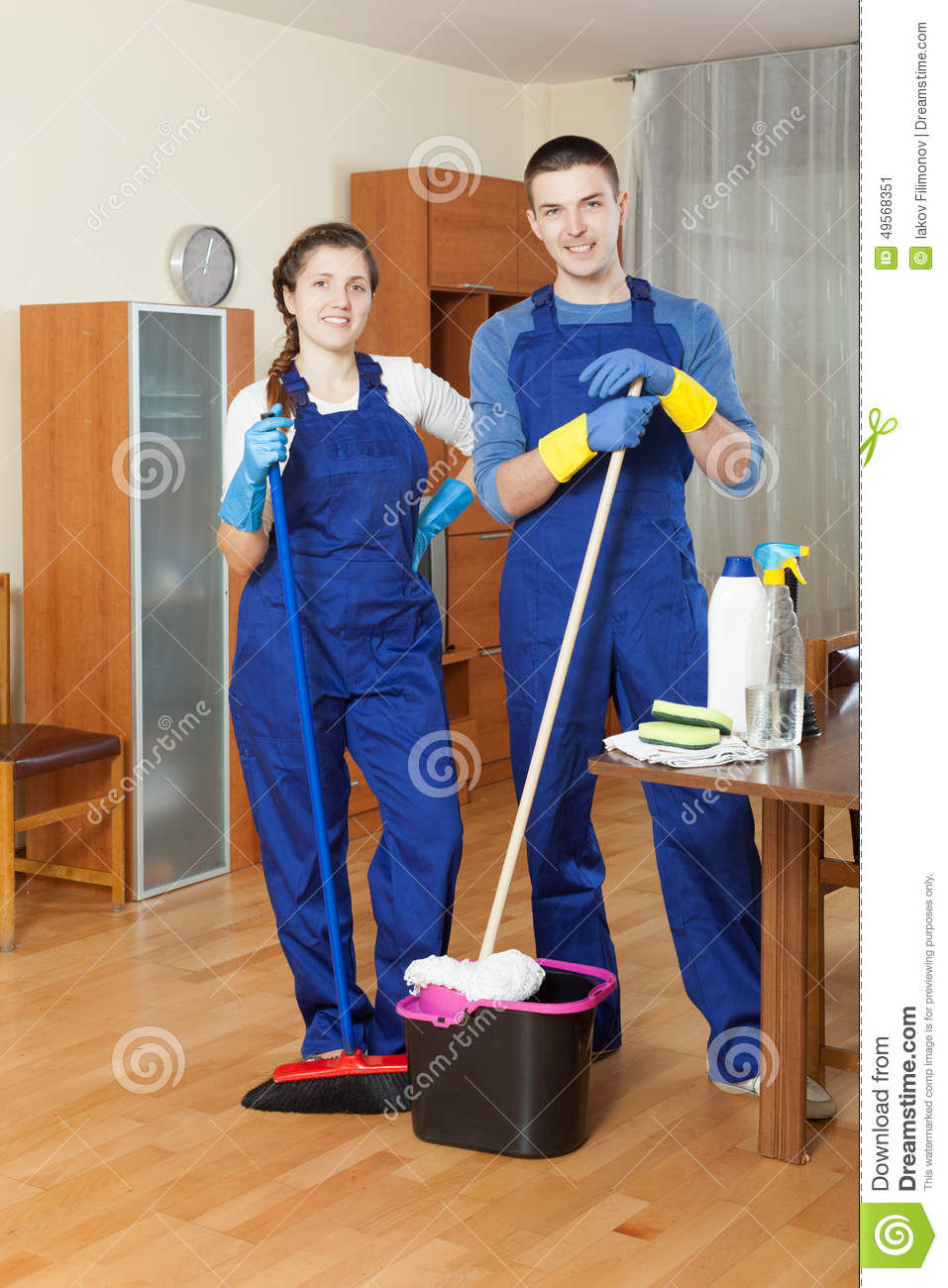 Cleaning team stock image image of houseman housecleaner for House cleaning stock photos
