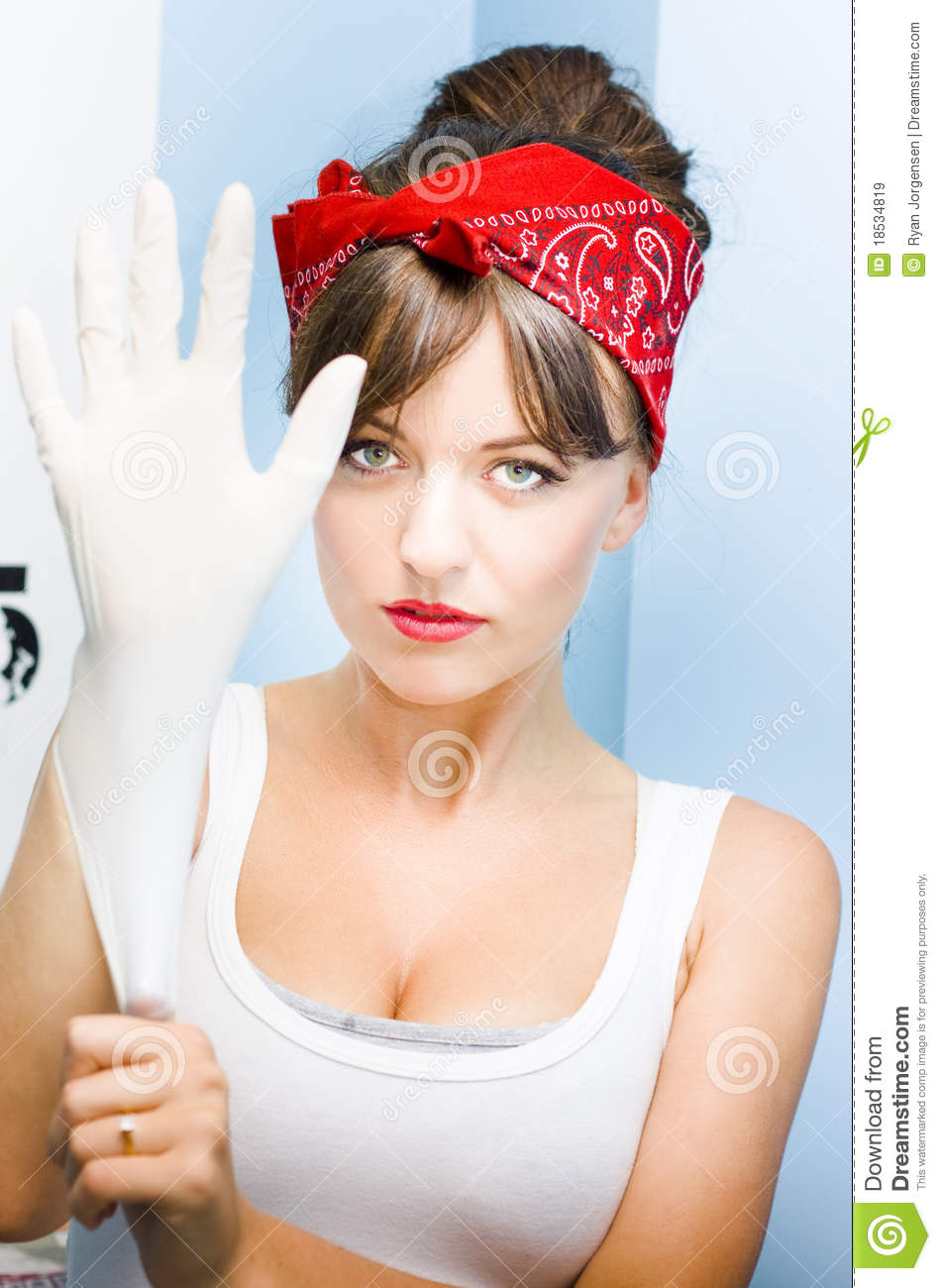 Cleaning Time Stock Image Image Of Girl Headscarf Lady