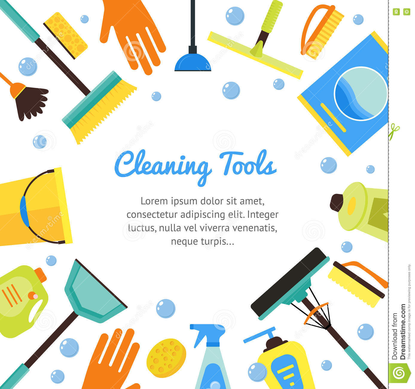 Janitorial services vector images for House planning tool