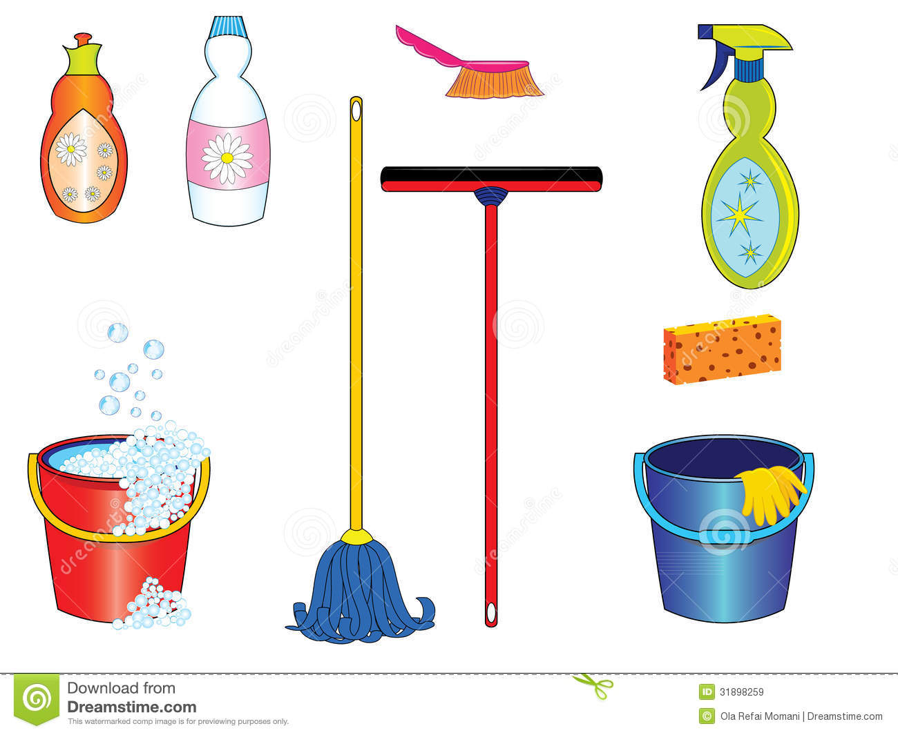 Cleaning Tools Royalty Free Stock Images Image 31898259