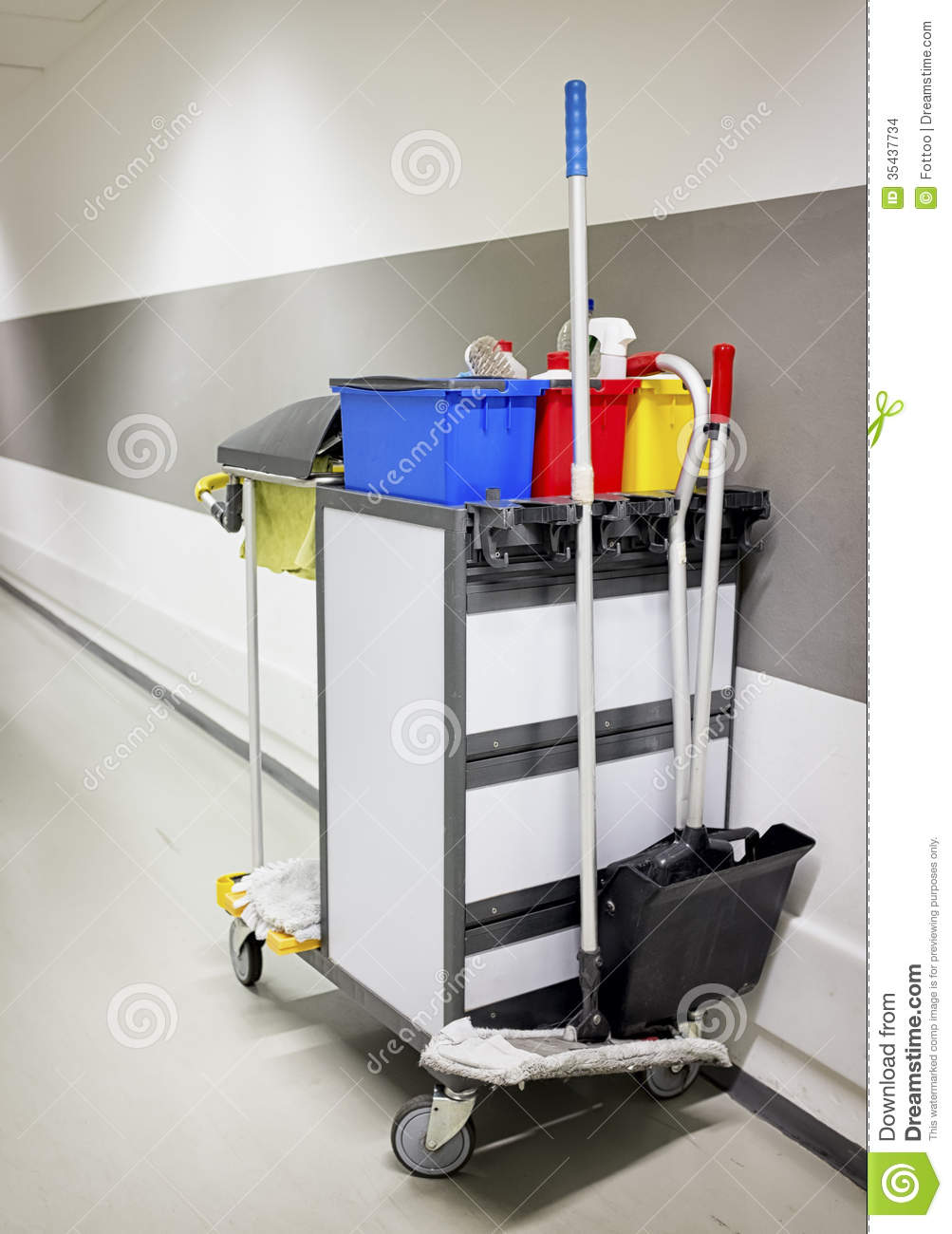 Cleaning Trolley Service Cart Stock Photo Image 35437734