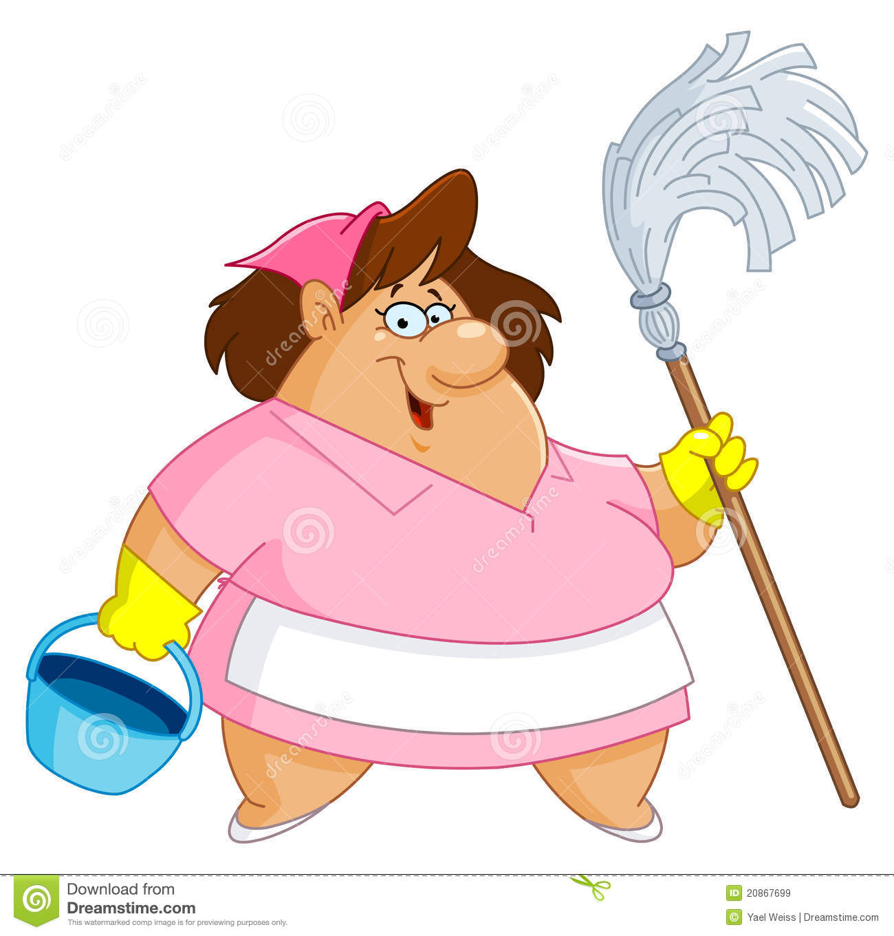Cleaning Woman Stock Vector Image Of Cartoon American
