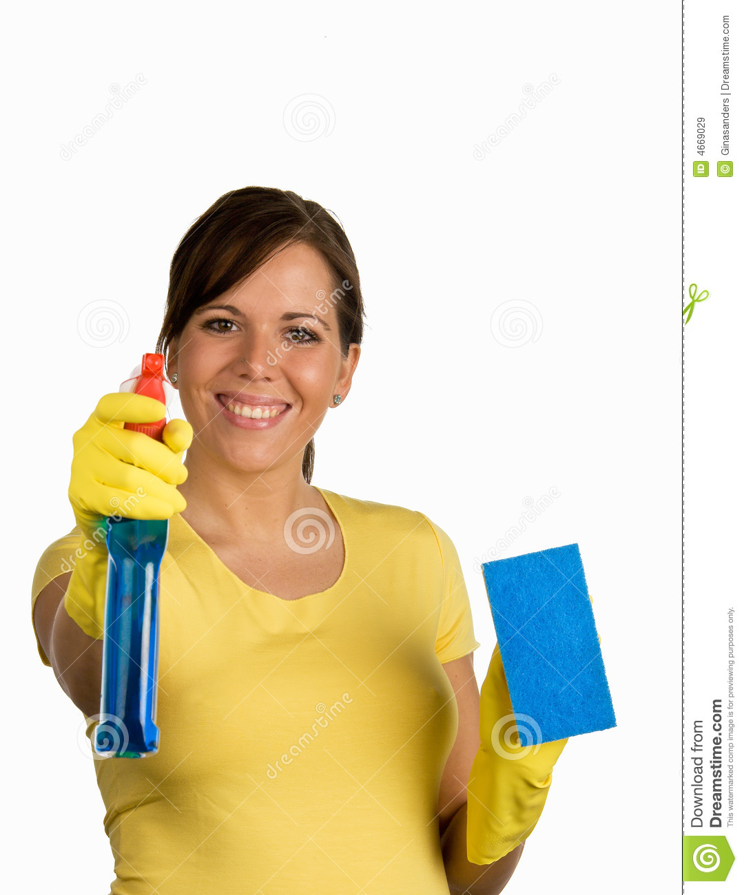 Cleaning woman stock image. Image of cheerful, confidence ...
