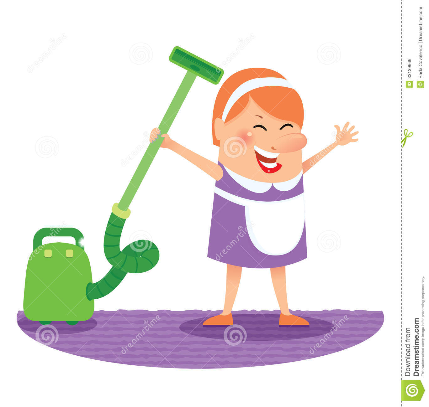 Cleaning Woman Royalty Free Stock Image - Image: 33139666