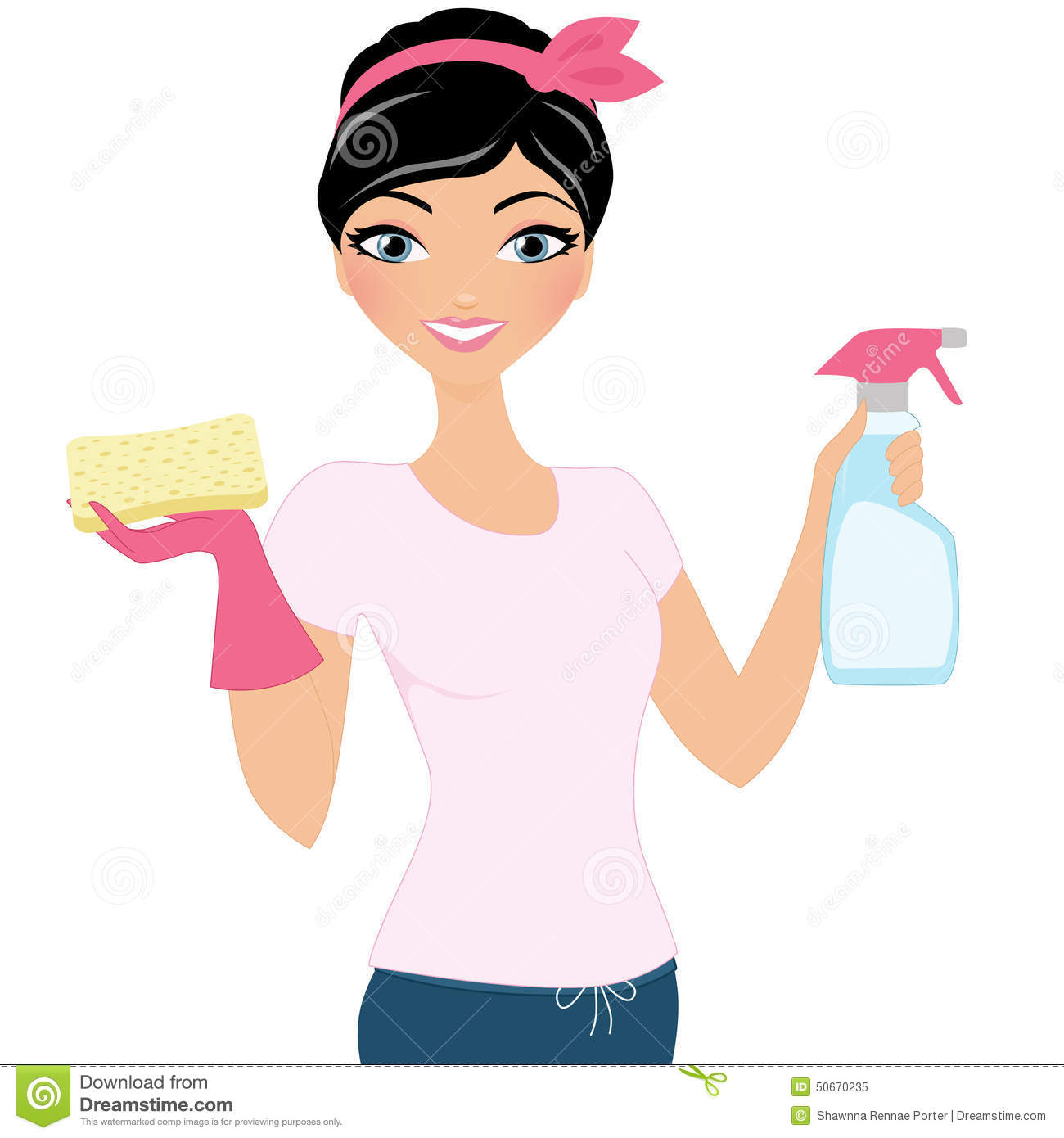 Cleaning Woman Stock Photo Image 50670235