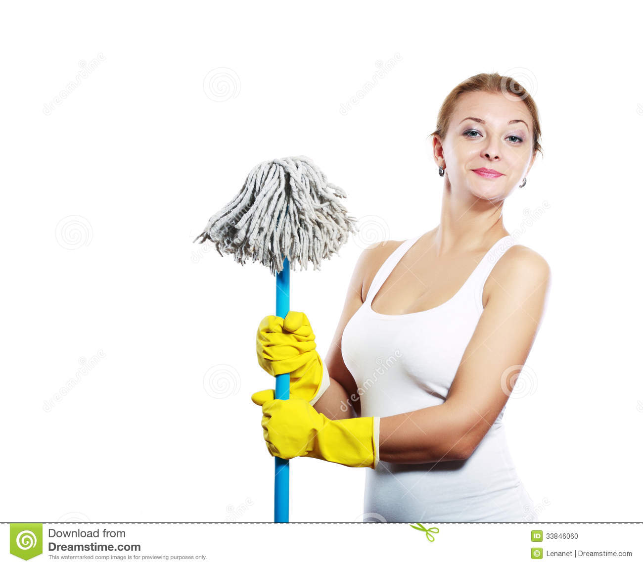 Cleaning Women Stock Photo Image 33846060