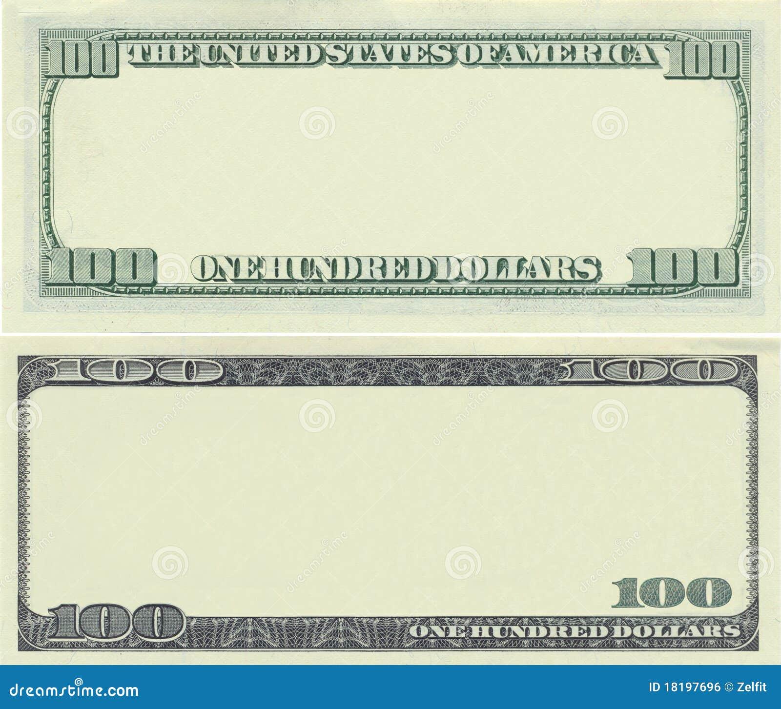 Clear 100 dollar banknote pattern