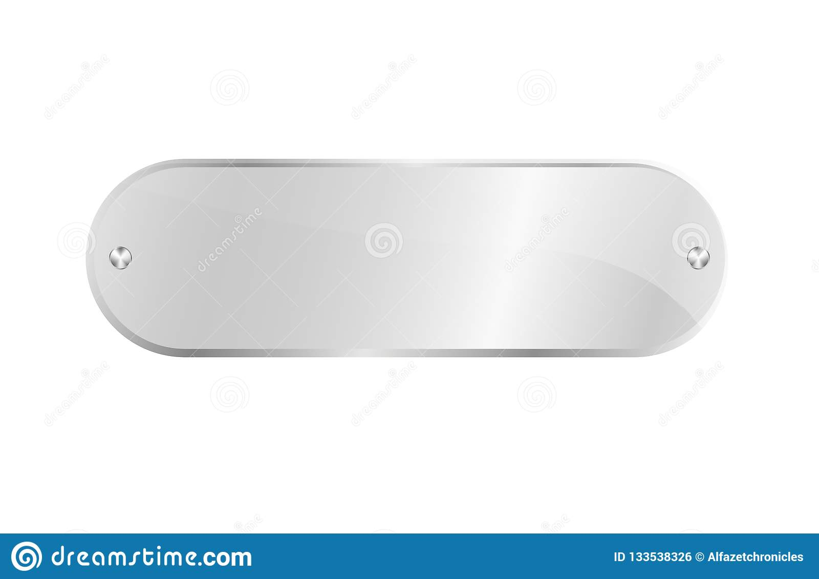 Clear Acrylic Signboard Isolated Icon Stock Illustration