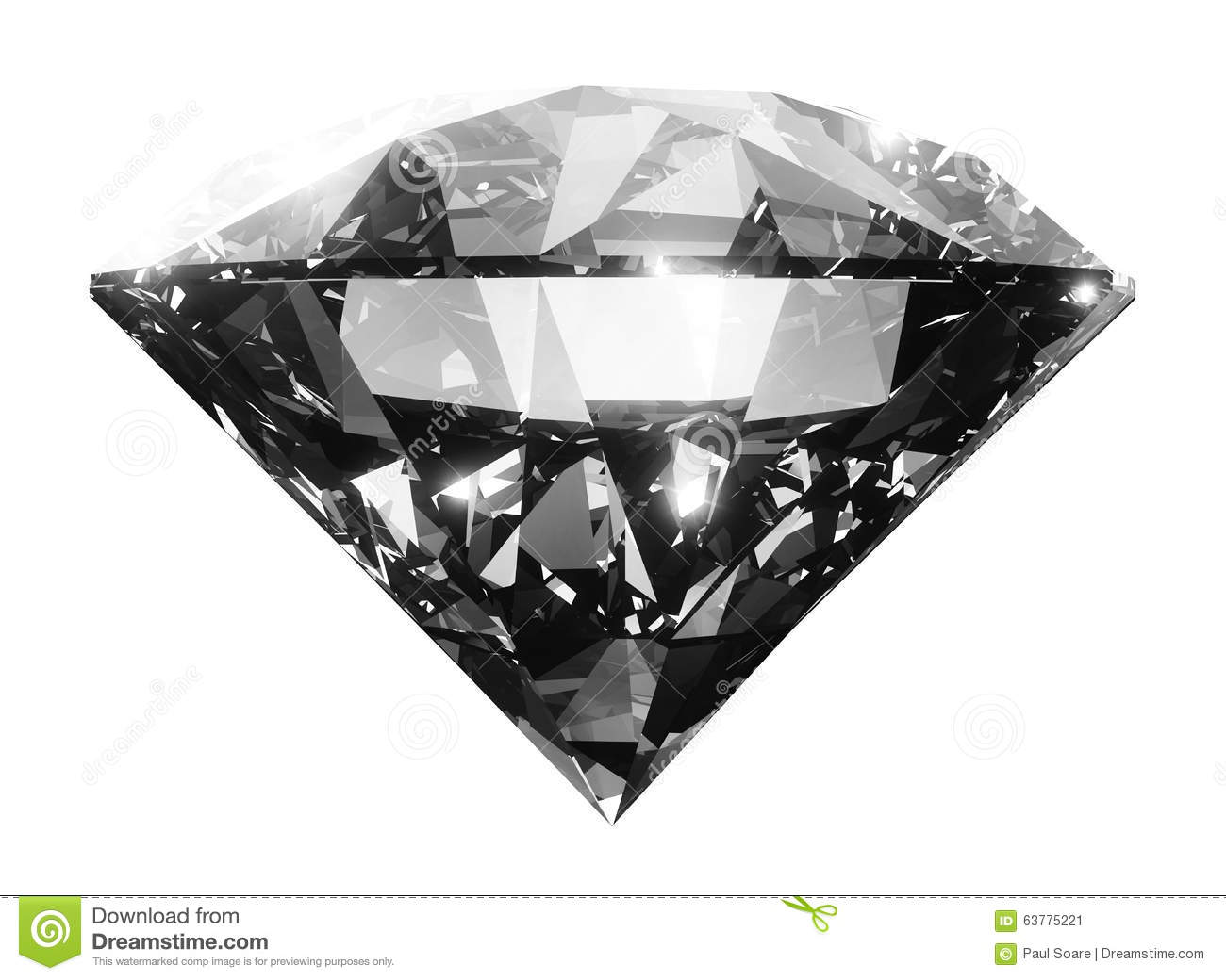 Clear big diamond crystal