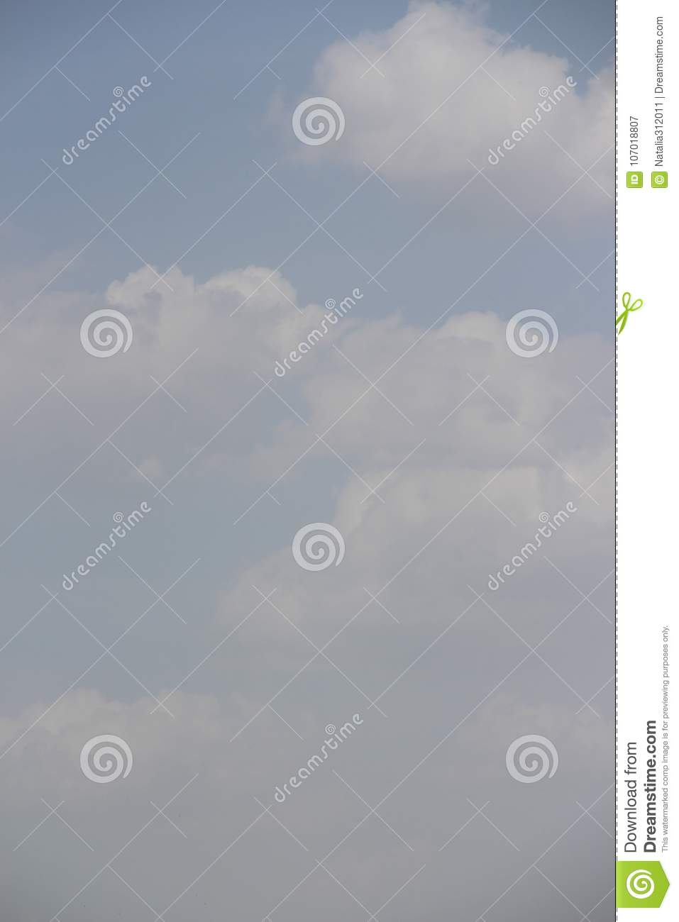 clear blue daylight sky with white clouds and sunlight stock image