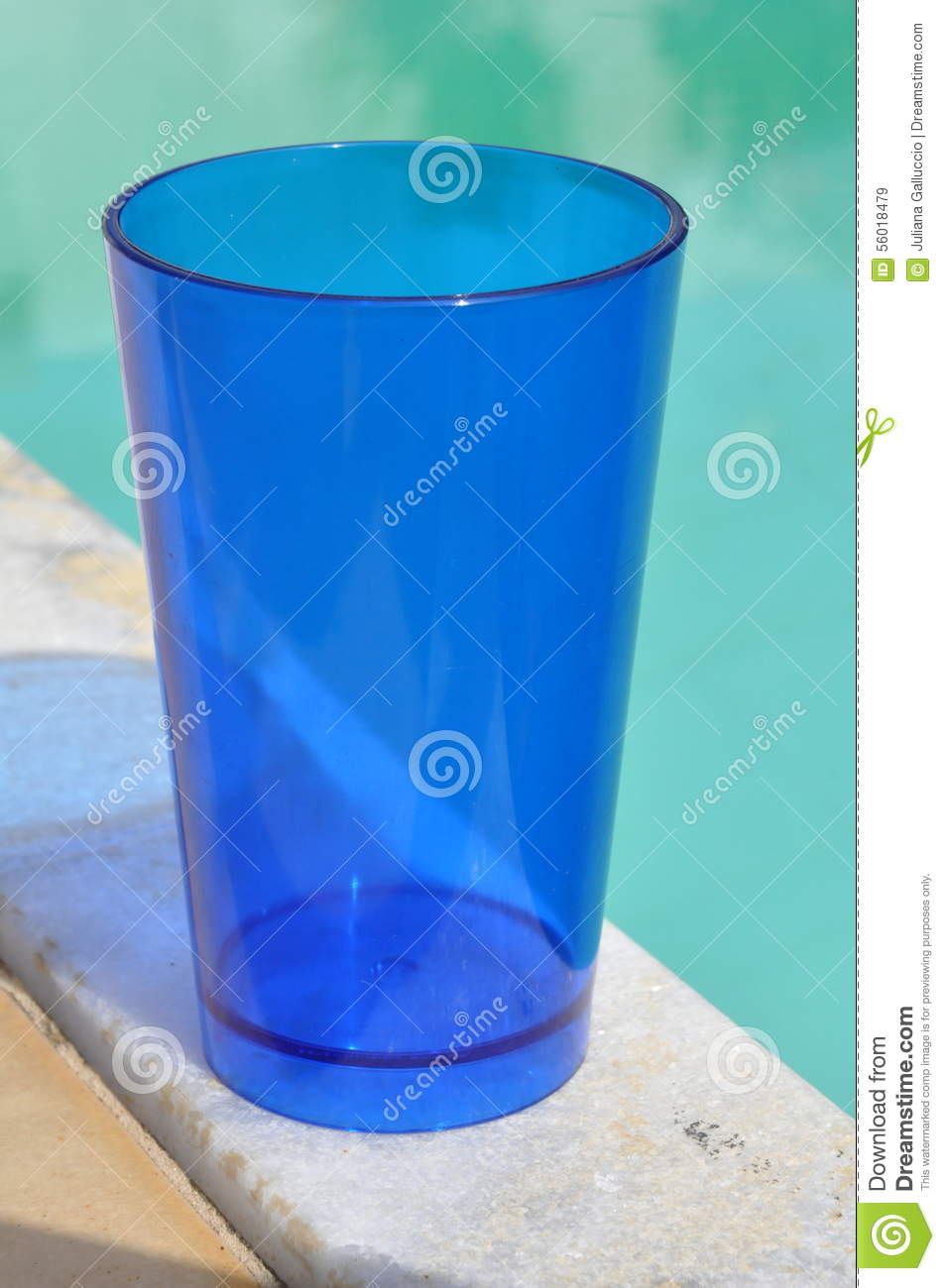 Clear Blue Plastic Cup Stock Image Image Of Sunny Edge 56018479